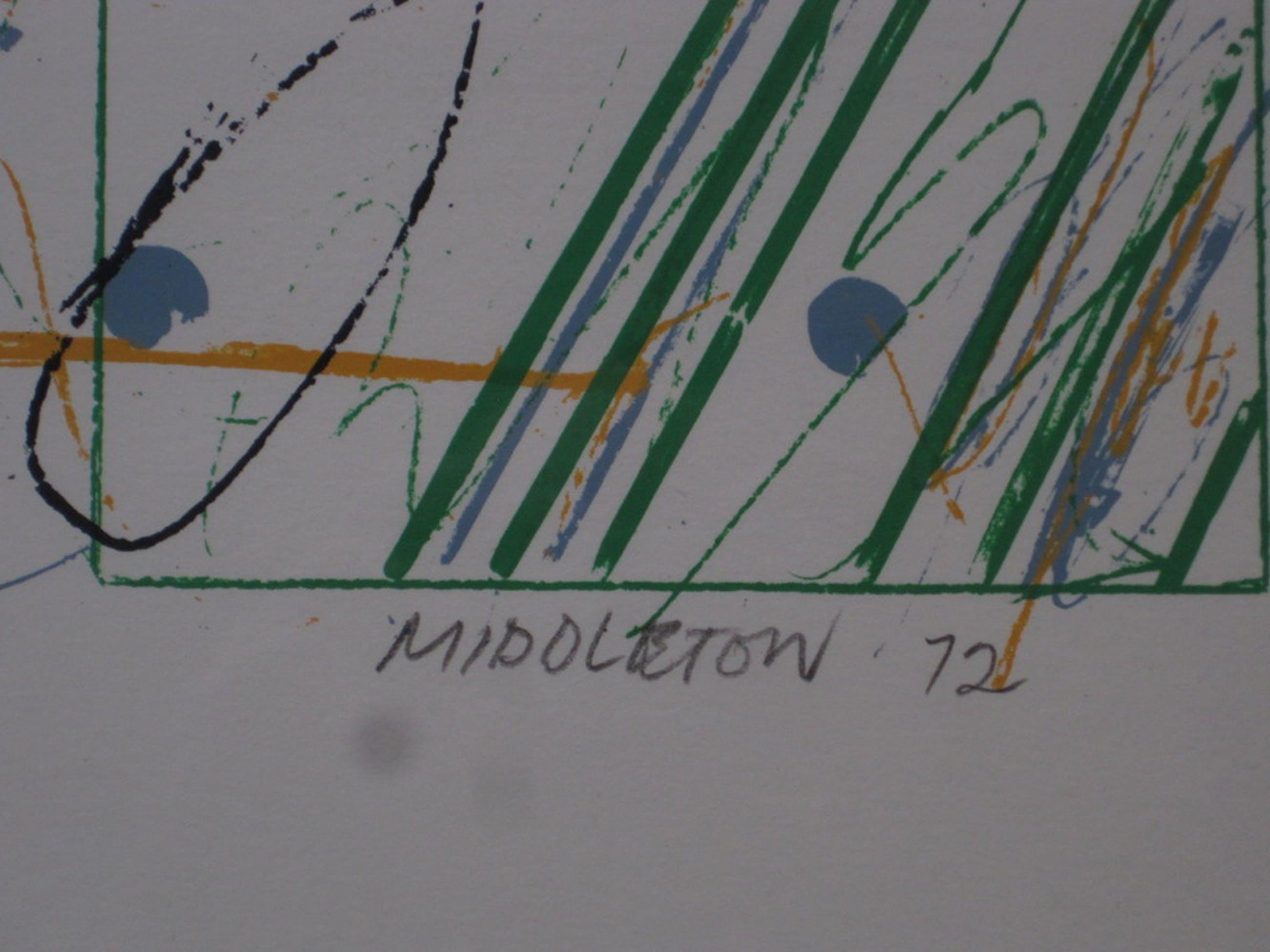 """S.Middleton (1928-) litho """"Mendelssohn Concerto1 opus75"""" 18/75 1972 kopen? Bied vanaf 1!"""