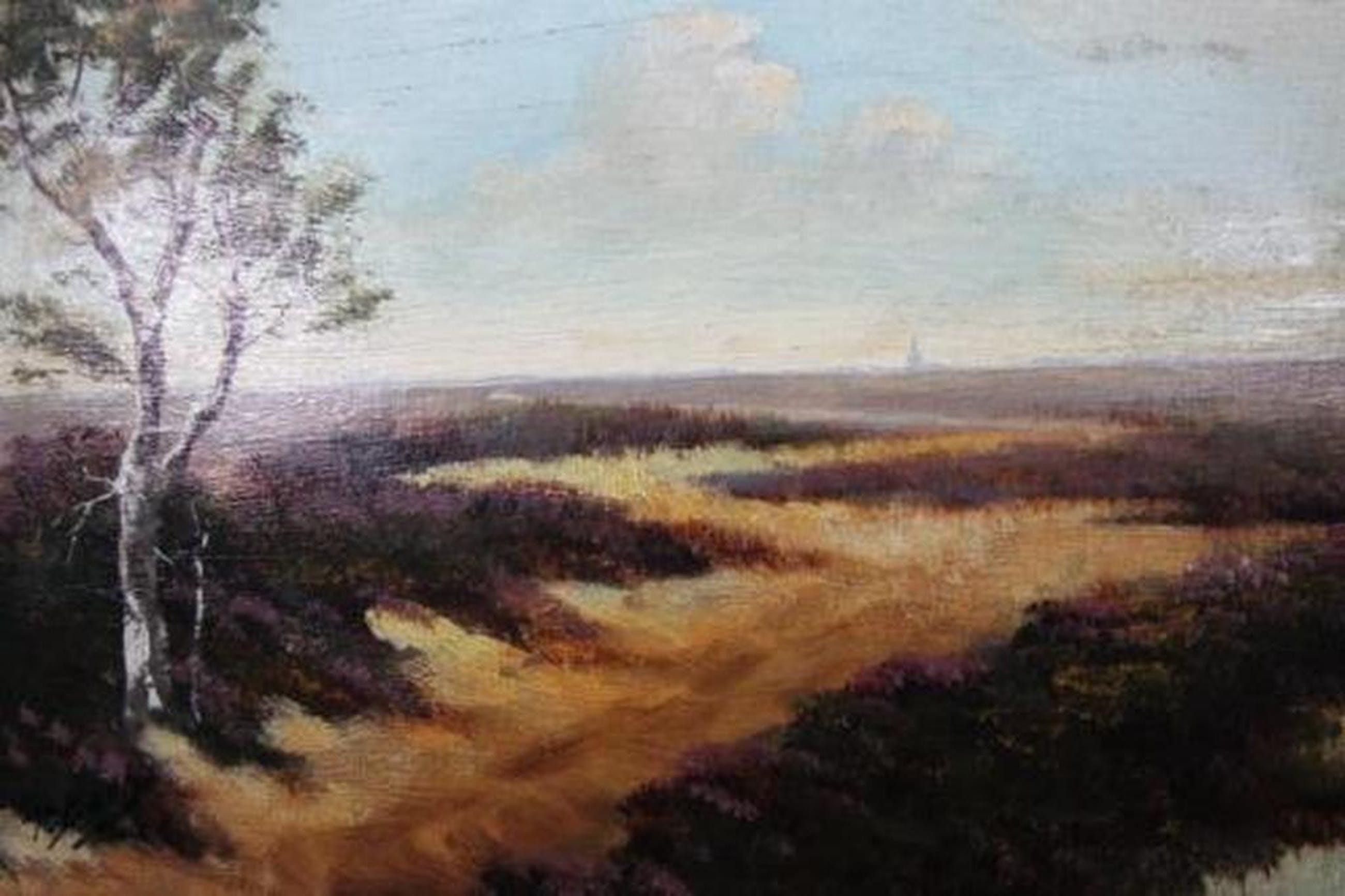 Heidelandschap - olieverf op paneel - gesigneerd door R. Both kopen? Bied vanaf 1!