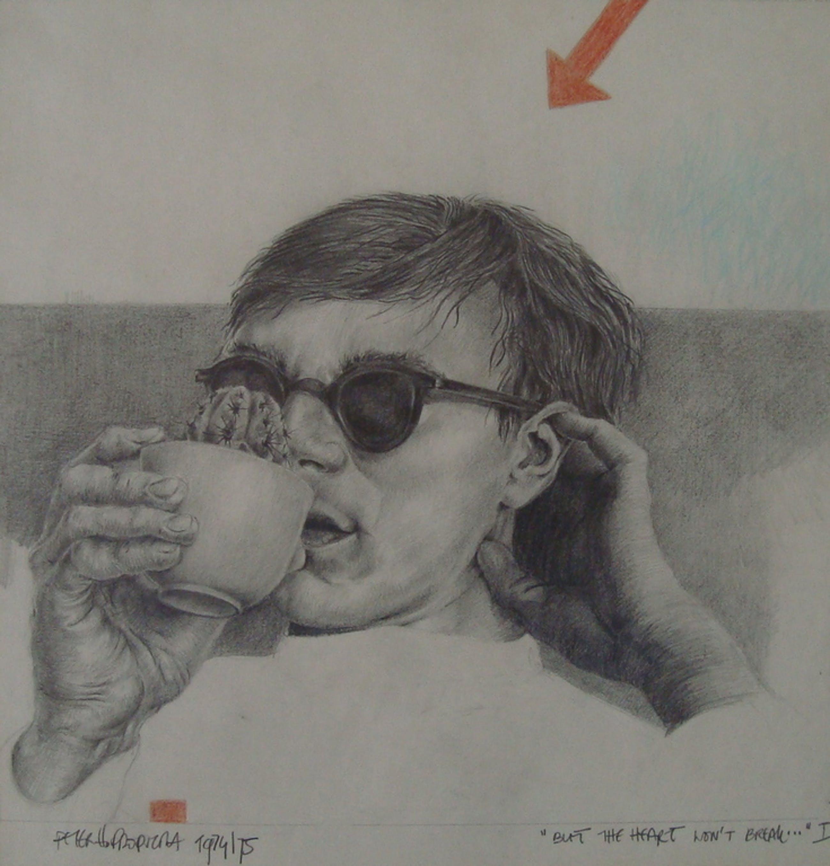 Tekening Andy Warhol door Peter Propstra uit 1974 kopen? Bied vanaf 50!