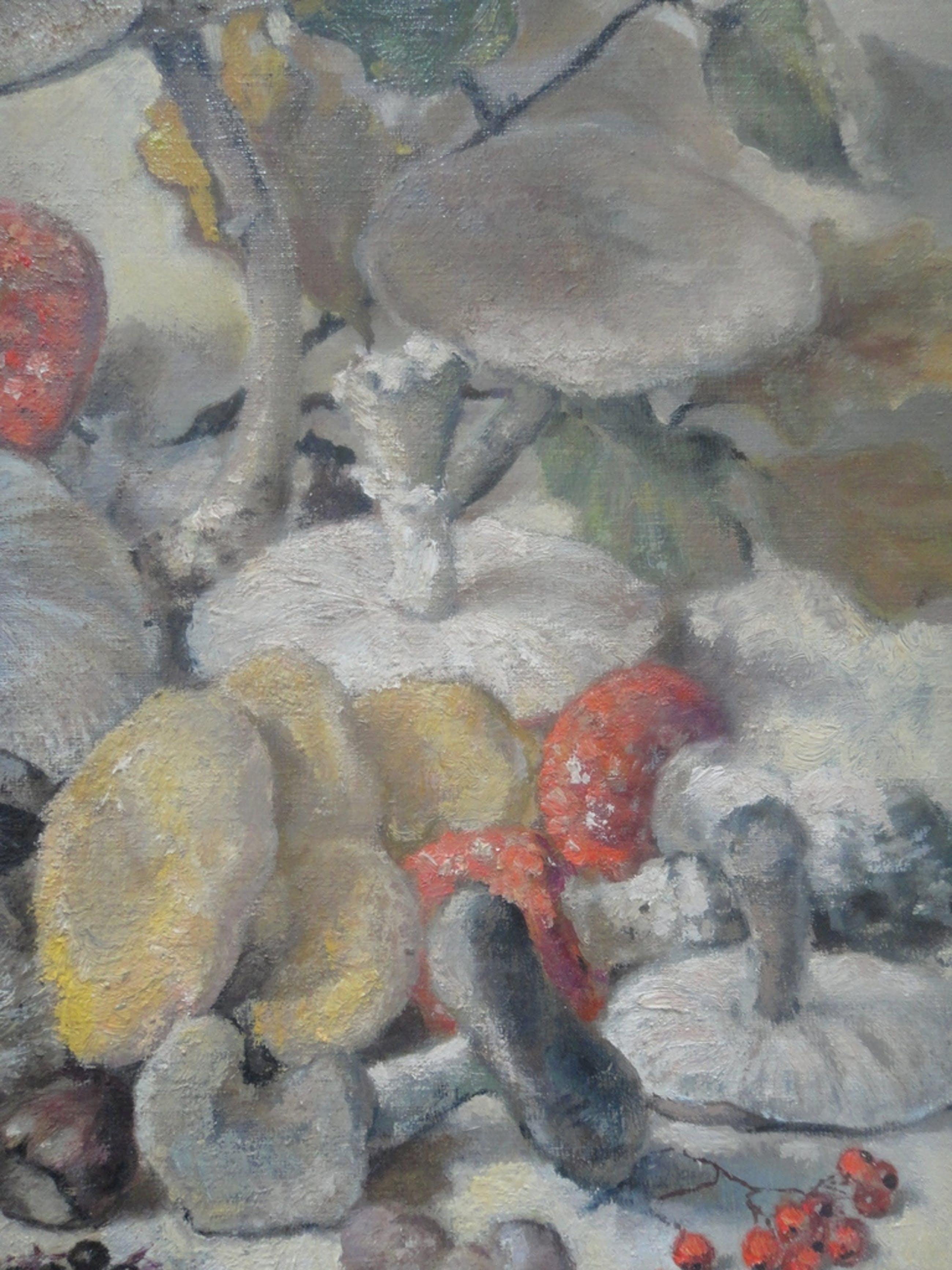 Jan Duyvetter, olieverf op board, compositie met paddestoelen kopen? Bied vanaf 125!