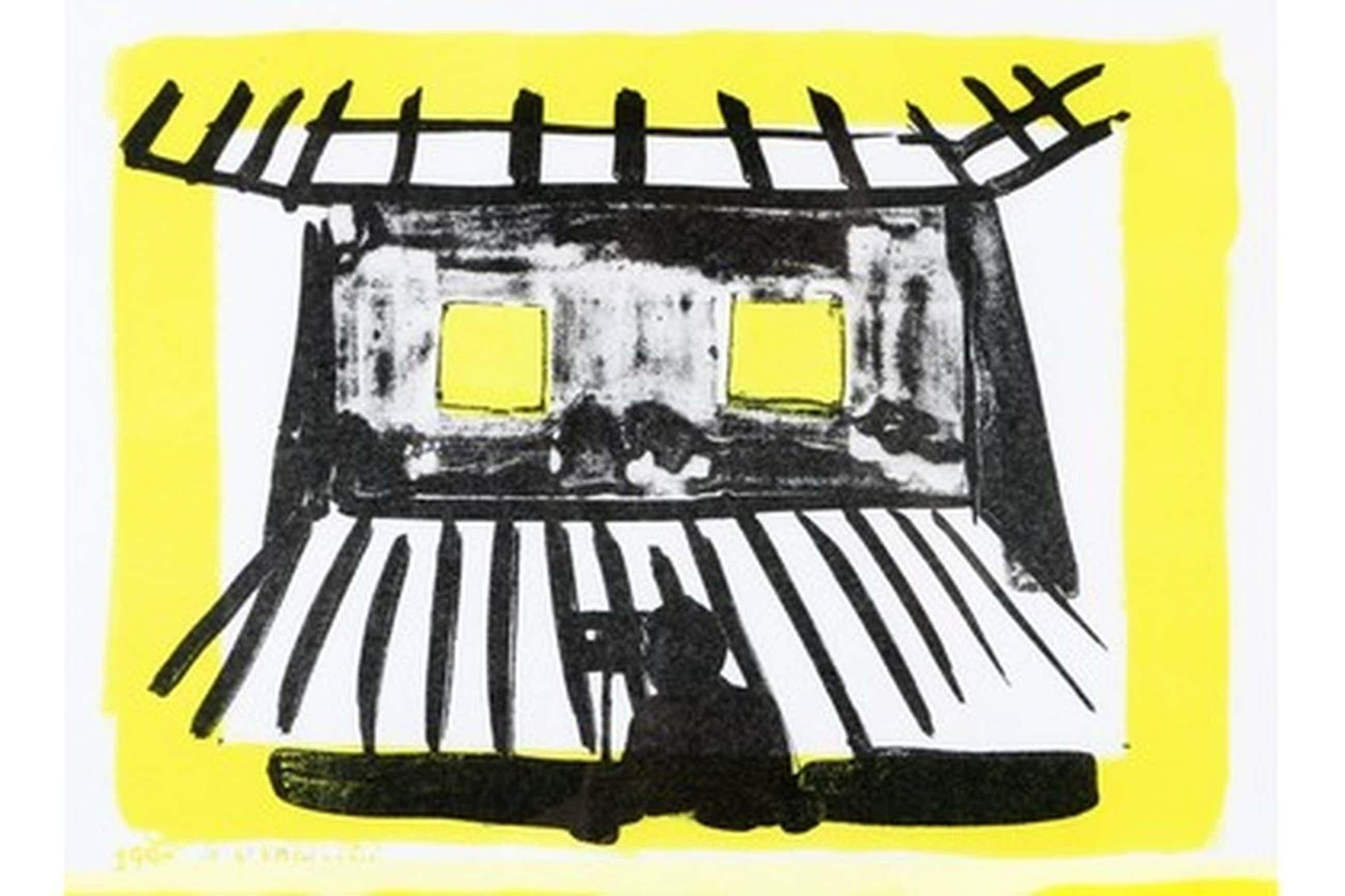 Leon Adriaans. Zeldzame steendruk:Gele kamer. Gesigneerd in potlood 1990 1/40 kopen? Bied vanaf 205!