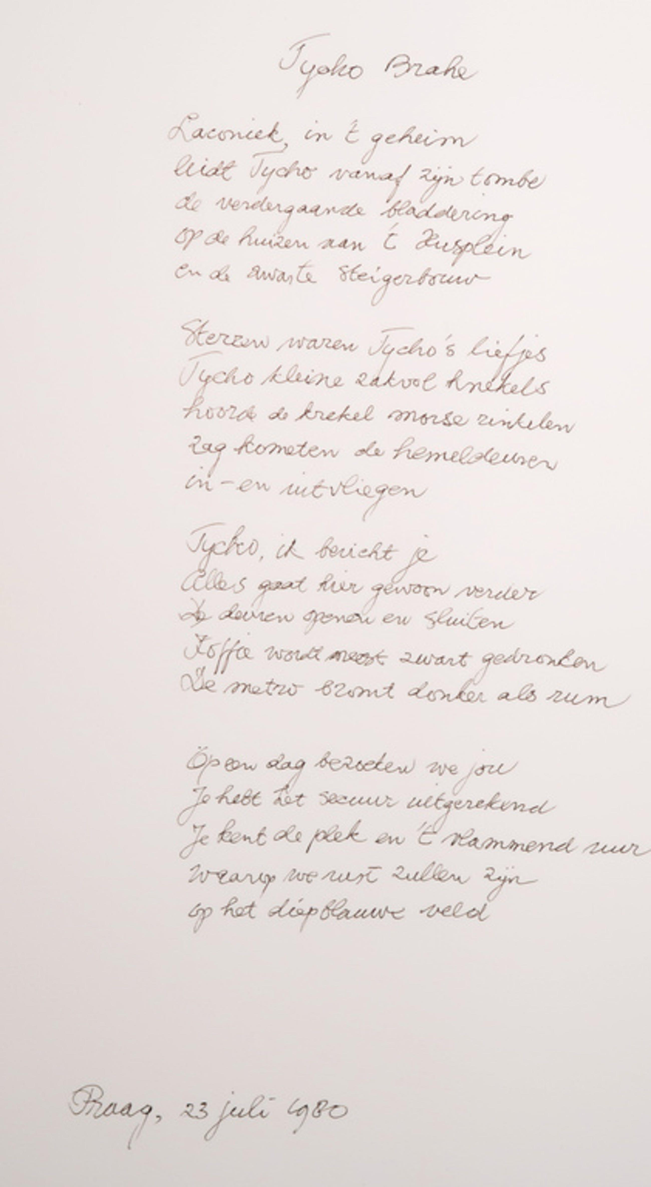 Reinier Lucassen: Ets, Praag en bild + H.H. ter Balkt: Gedicht, Tycho Brahe kopen? Bied vanaf 100!