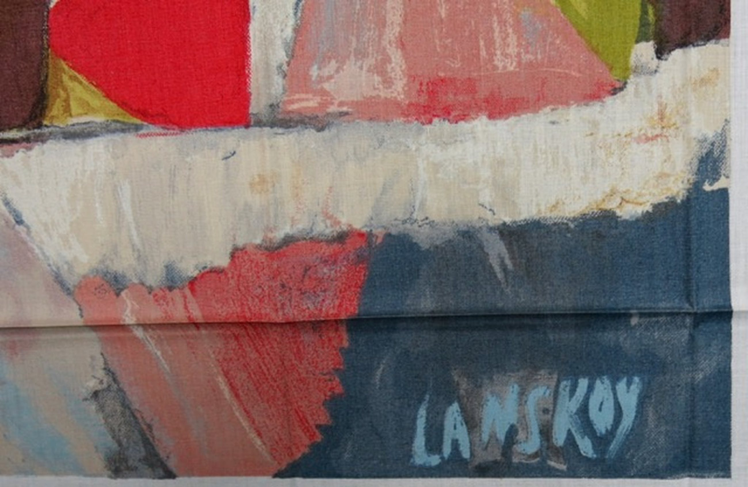 Andre Lanskoy: Zeefdruk op katoenzijde, Le poids d'un cartonnage kopen? Bied vanaf 1!