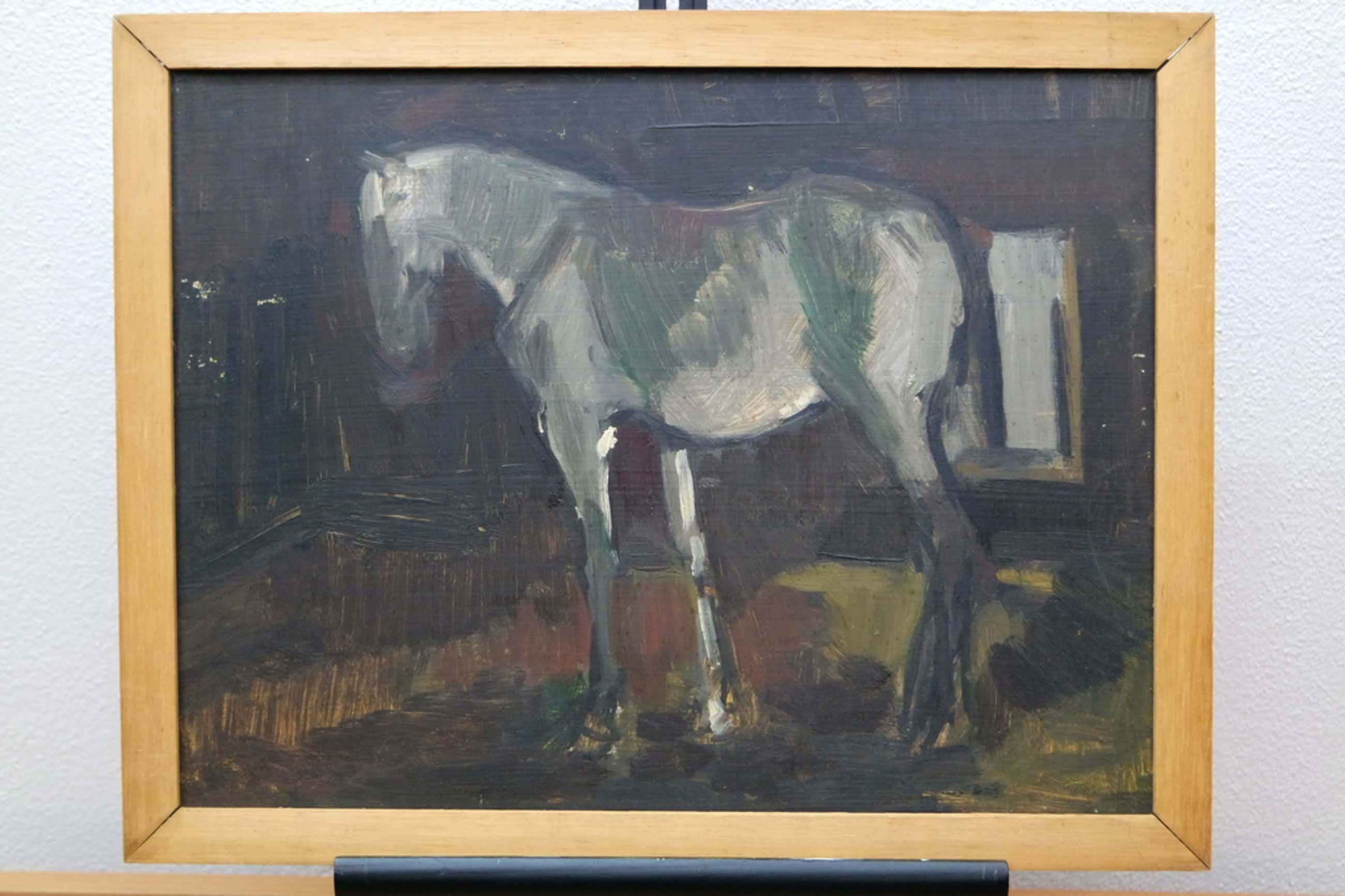 Albert van DALSUM (1889 - 1971) - olieverf op board - paard in een stal kopen? Bied vanaf 50!
