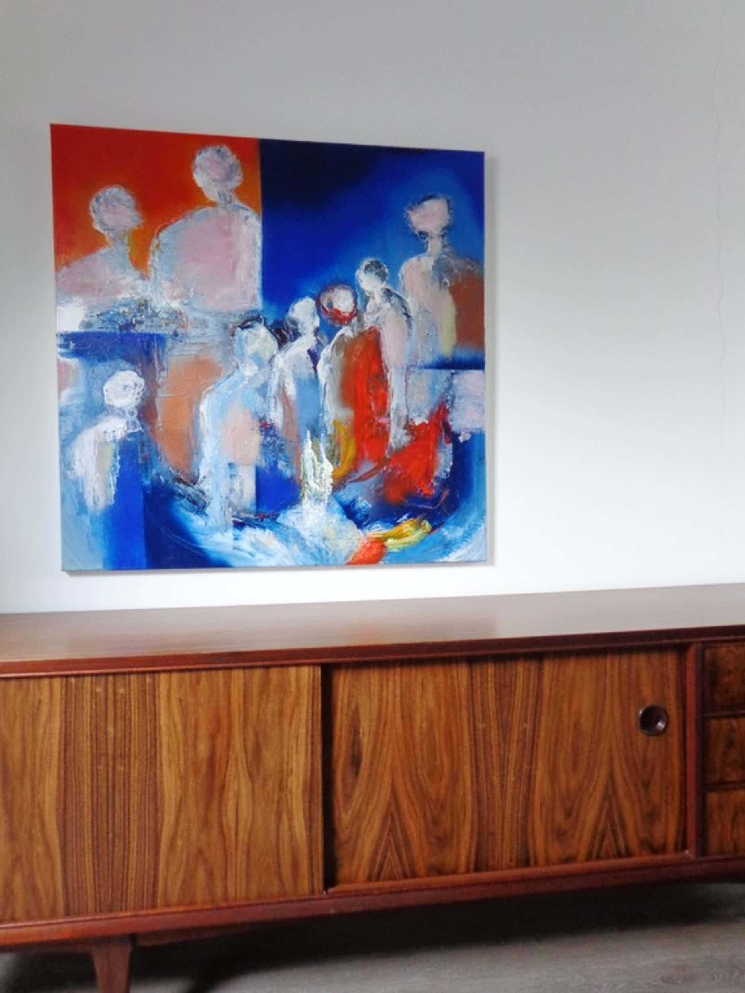 Marten Randa schilderij 'We will remember all of you' acryl op doek 100x100  kopen? Bied vanaf 160!