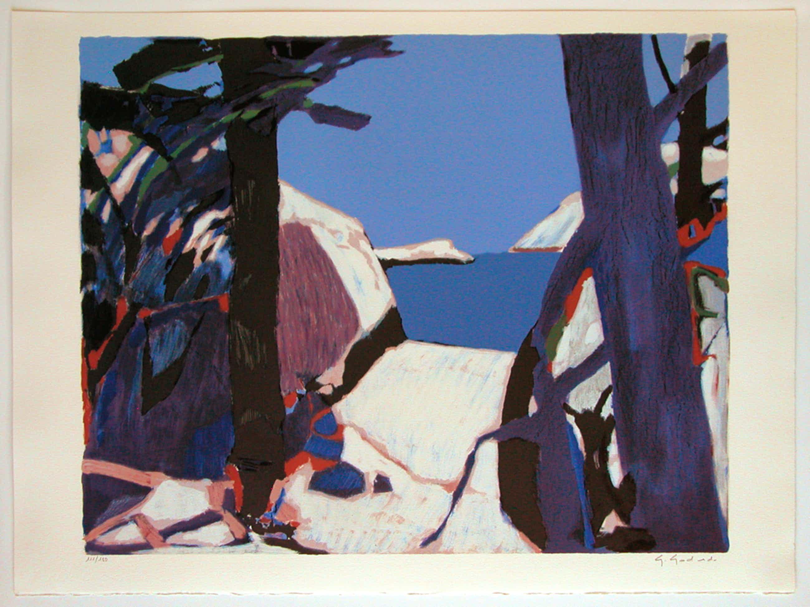 "GABRIEL GODARD, originele litho 'Provence"" handgesigneerd  kopen? Bied vanaf 95!"
