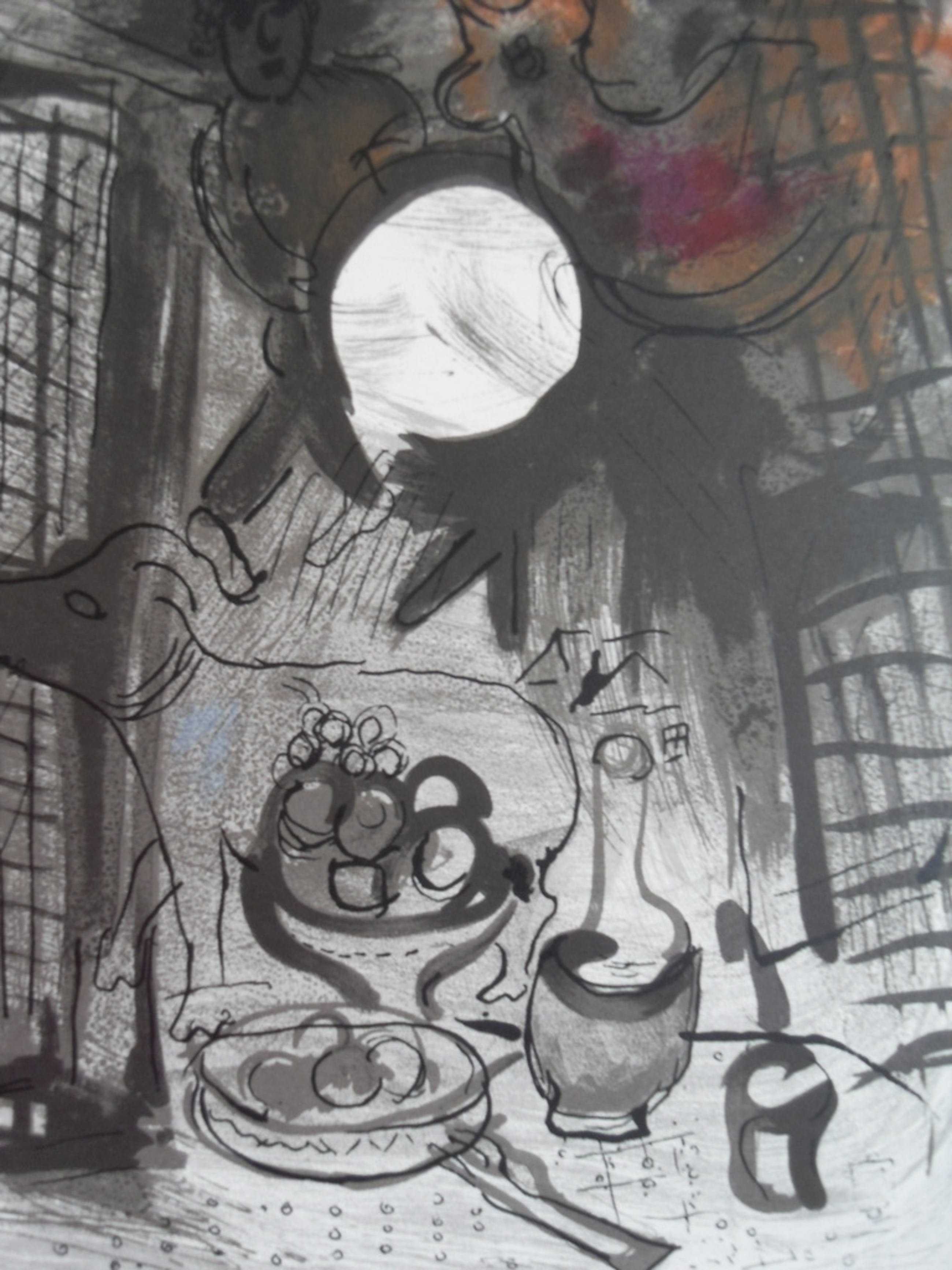 Marc Chagall, Kleurenlitho 1956 uitgegeven door Mourlot met certificaat 30x40 kopen? Bied vanaf 1!