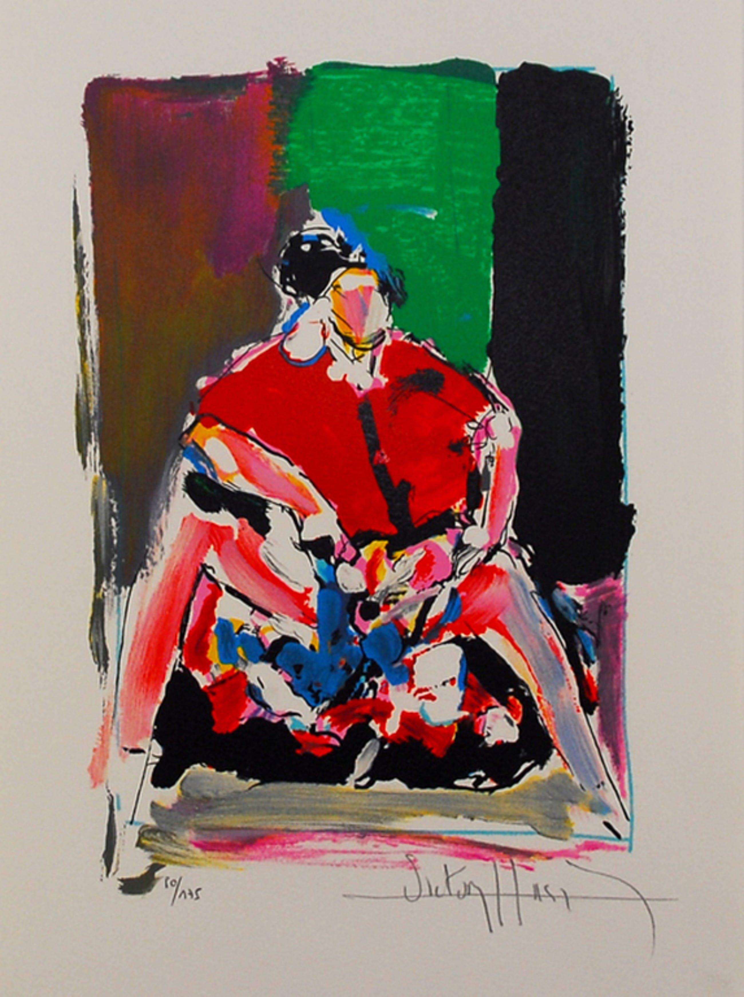 Victor Hasch -l'Espagnole- Mooie Lithografie. Handgesigneerd/Genummerd. kopen? Bied vanaf 55!