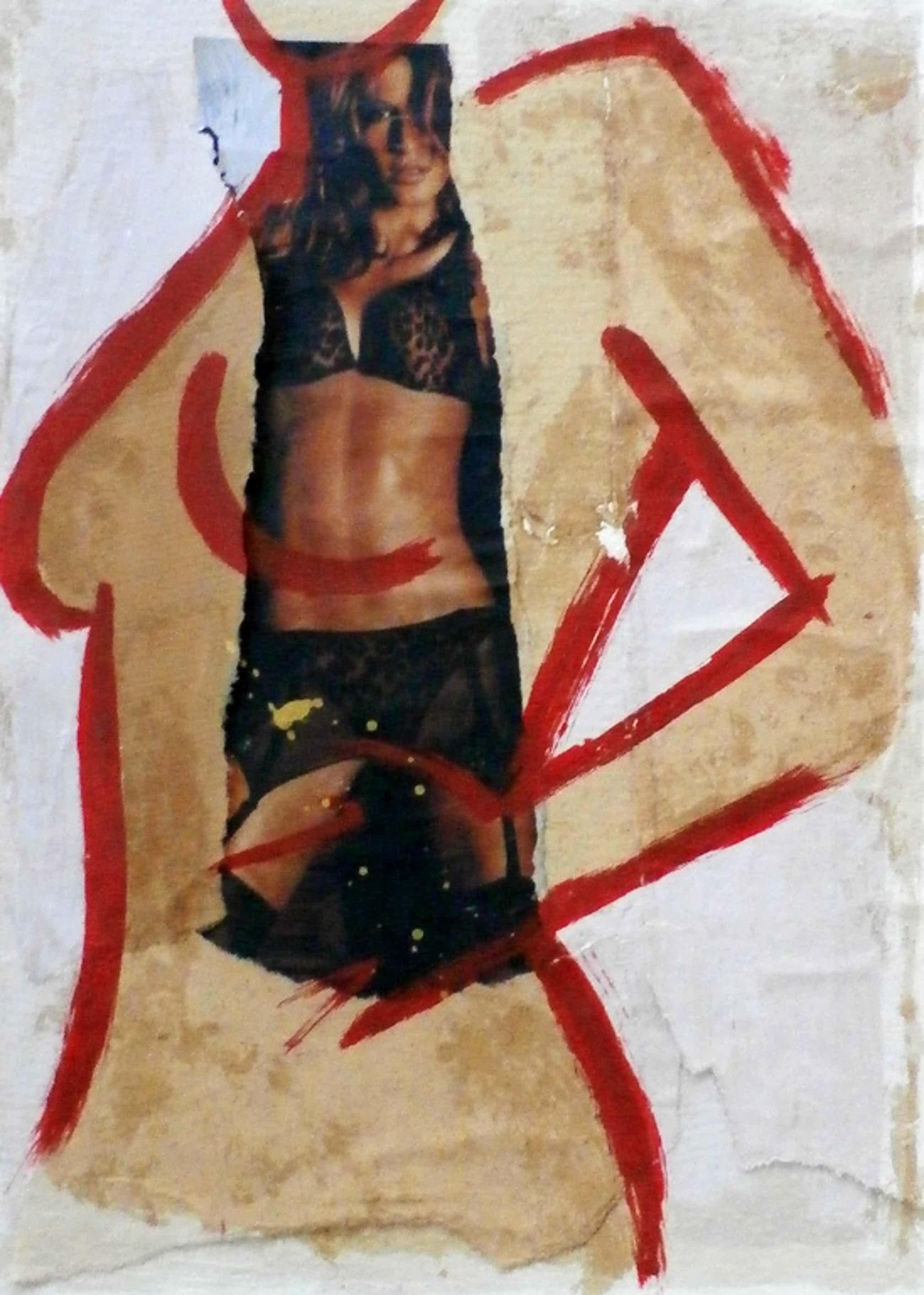 Casper Faassen - zeefdruk/collage - gesigneerd - 2003 kopen? Bied vanaf 225!