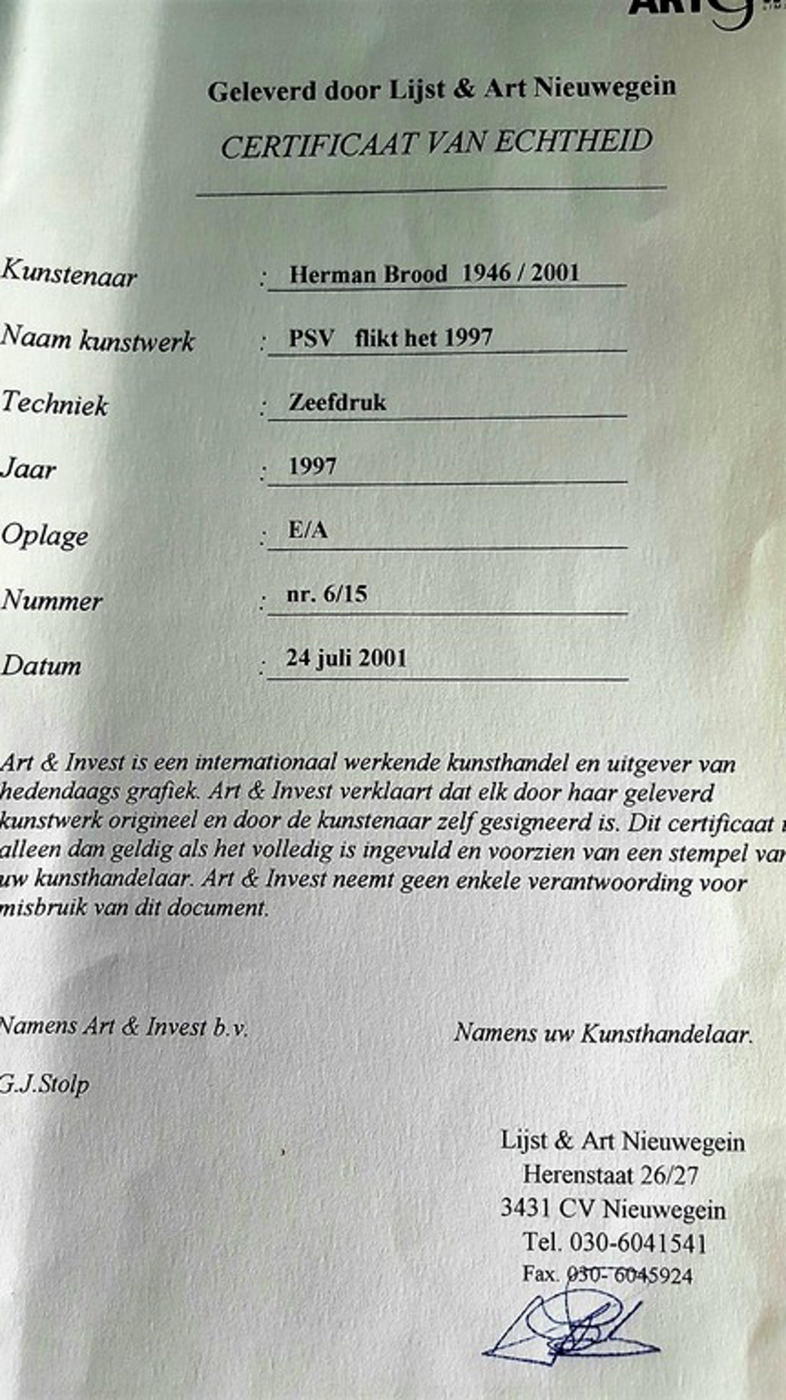 Herman Brood: zeefdruk, PSV flikt het kopen? Bied vanaf 200!