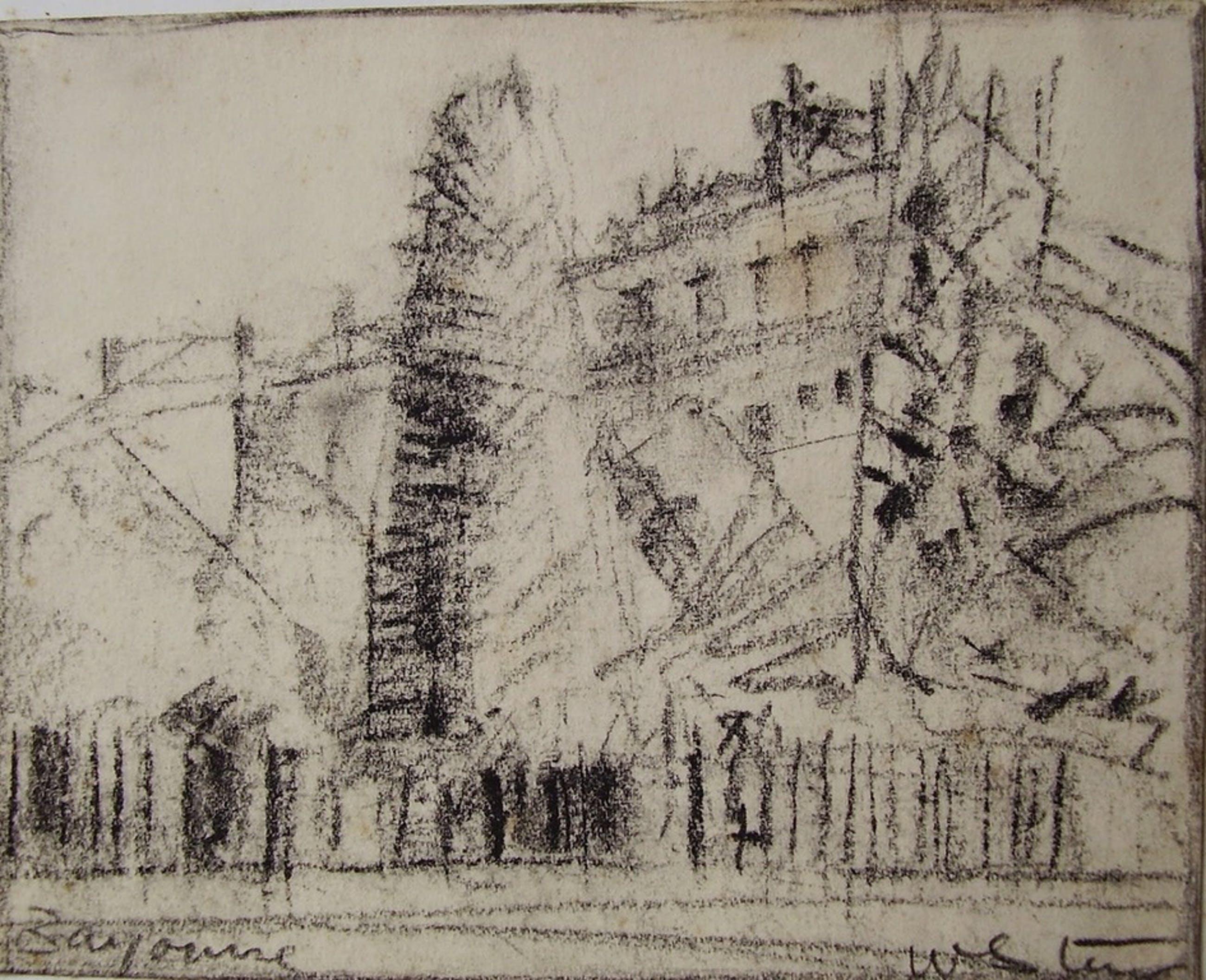 """Wim Steijn tekeningen """"Janna Steijn"""" 1963 en """"Bayonne"""" kopen? Bied vanaf 25!"""