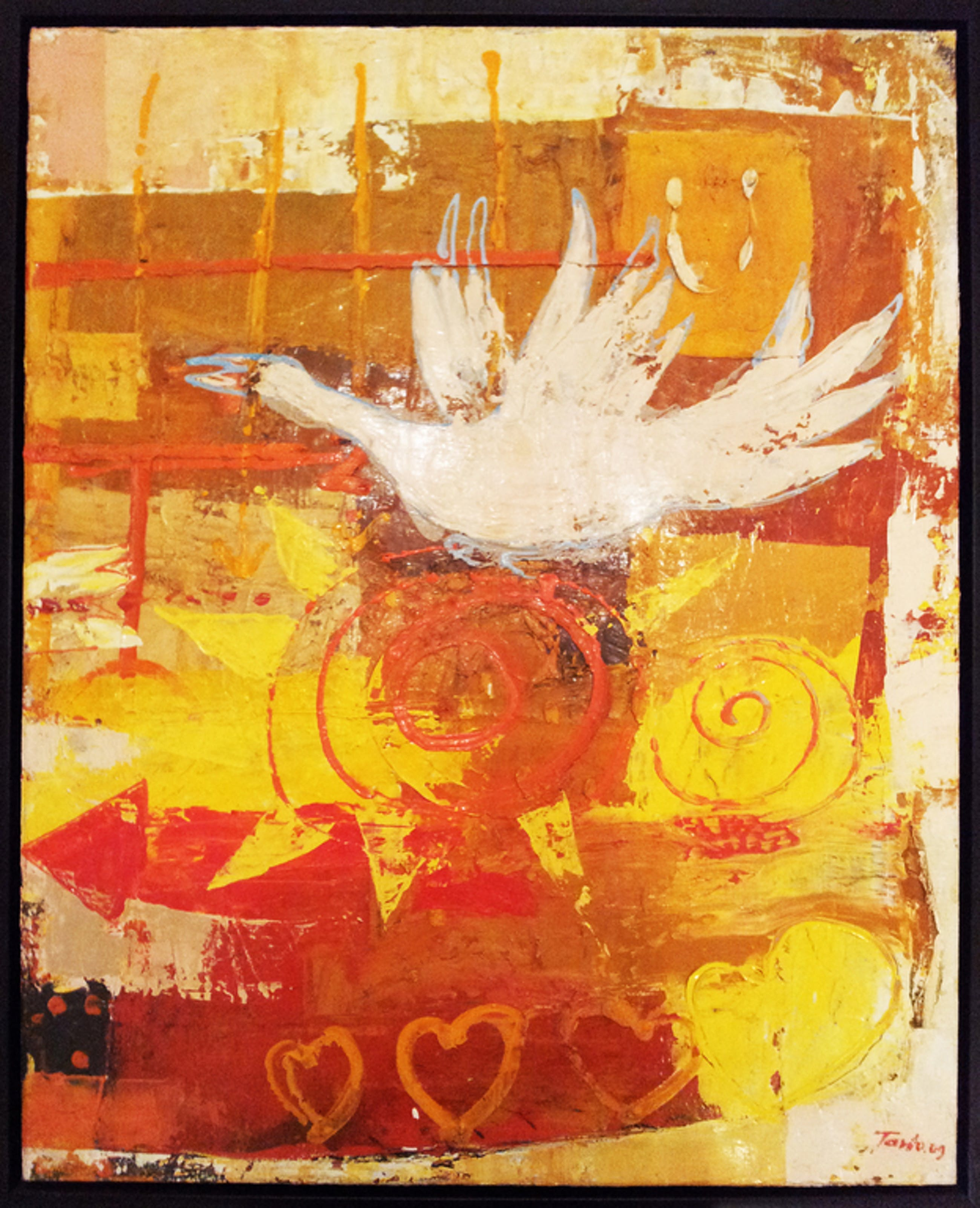 Roy Tanto - acrylverf op canvas - 'love n Bird' kopen? Bied vanaf 150!