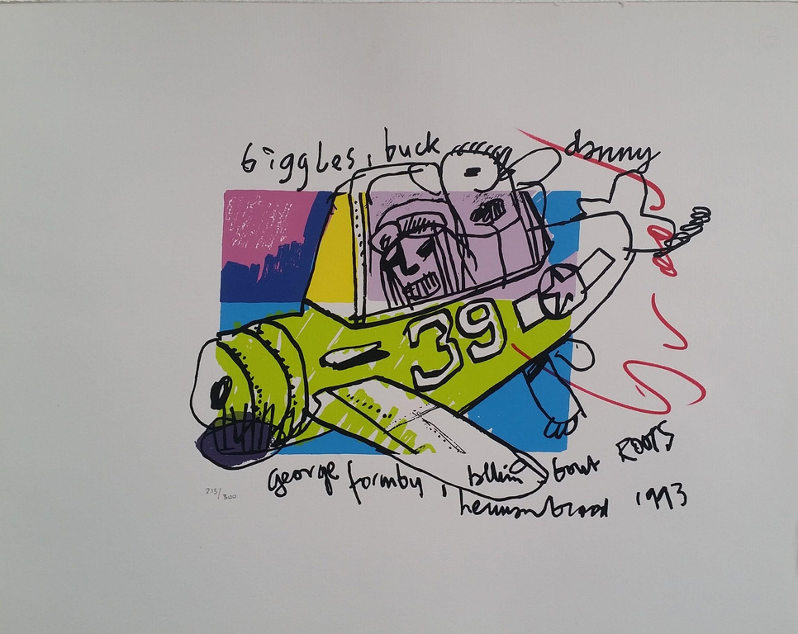 Biggles Buck - gesigneerde zeefdruk - oplage 300 ex. kopen? Bied vanaf 95!