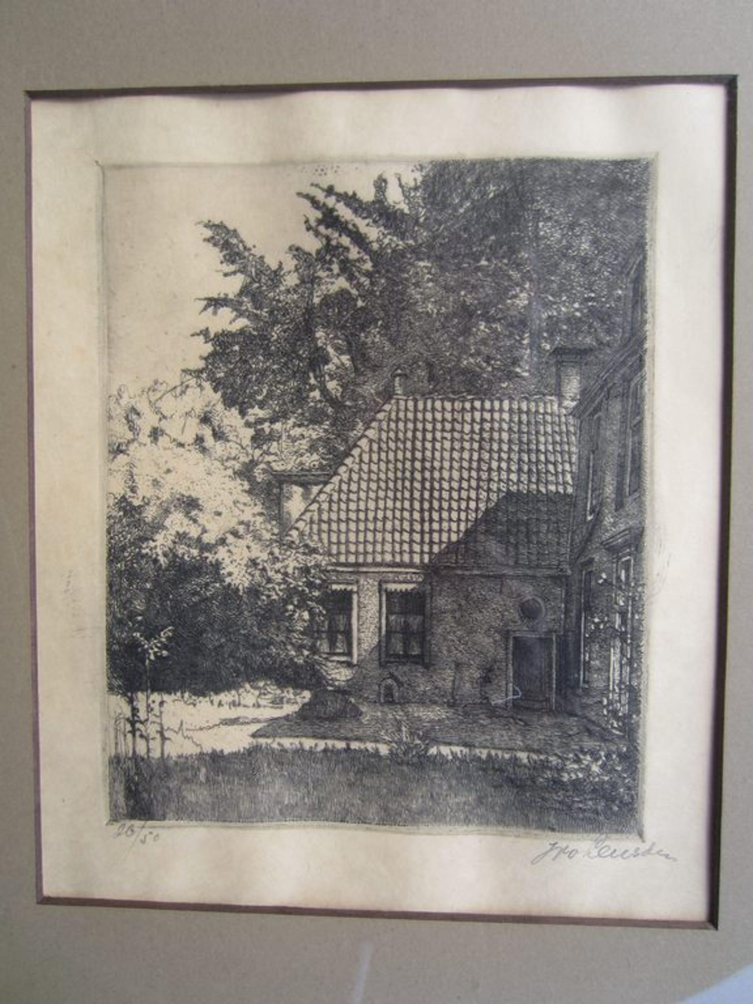 Willem van Leusen - ets kopen? Bied vanaf 50!