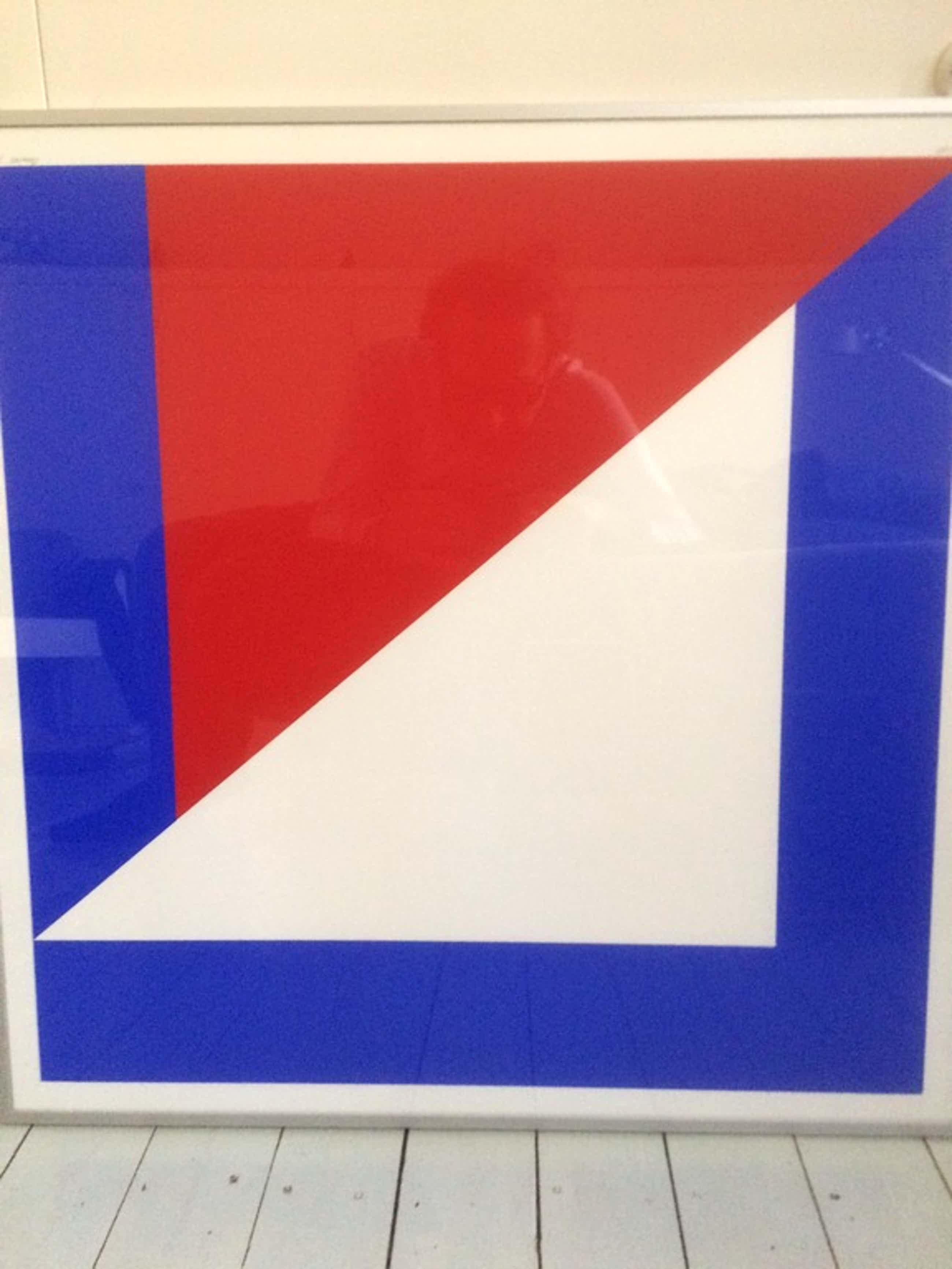 Bob Bonies - Compositie in rood en blauw kopen? Bied vanaf 75!