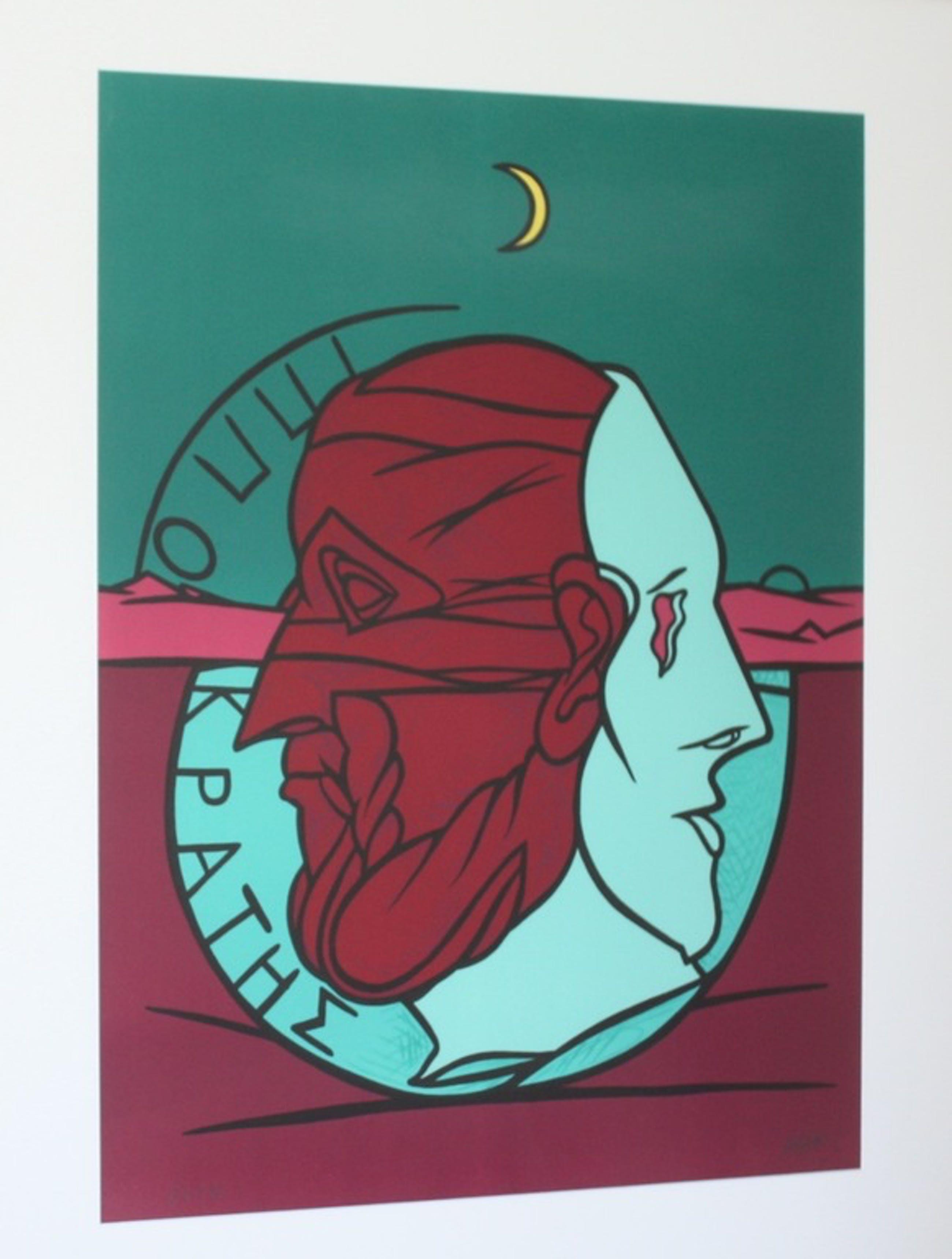 Valerio Adami: Kleurenlithografie, Hippocrates kopen? Bied vanaf 190!