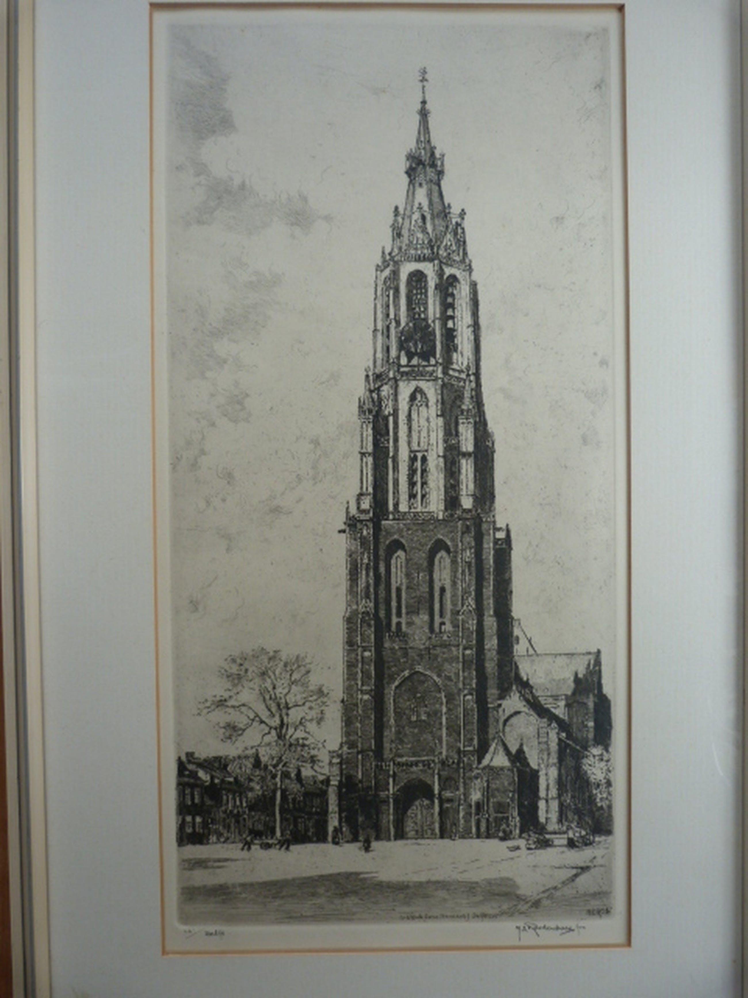 H.E. Roodenburg  -  Delft  -  St. Ursulatoren ( Nieuwe Kerk ) kopen? Bied vanaf 1!
