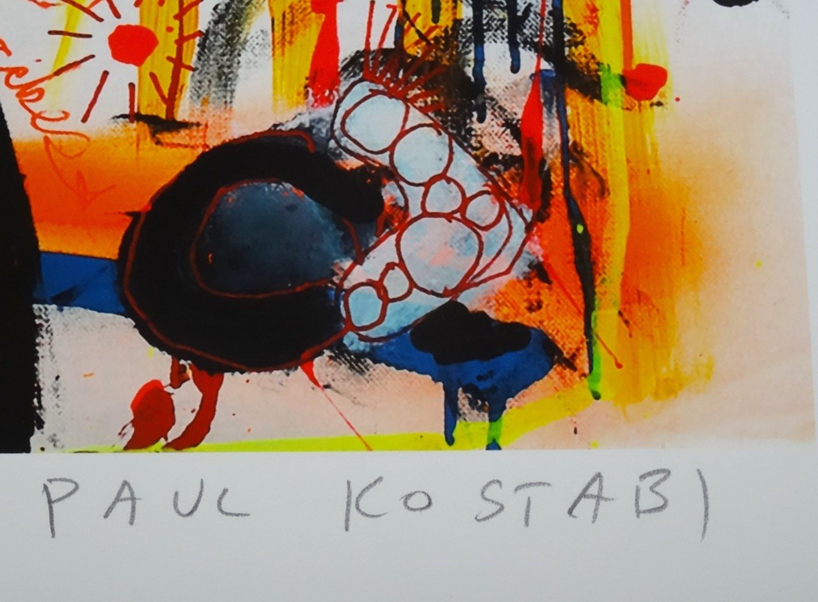 Paul Kostabi - So Green.  Prachtige grote giclee, handgesigneerd en - genummerd. kopen? Bied vanaf 45!