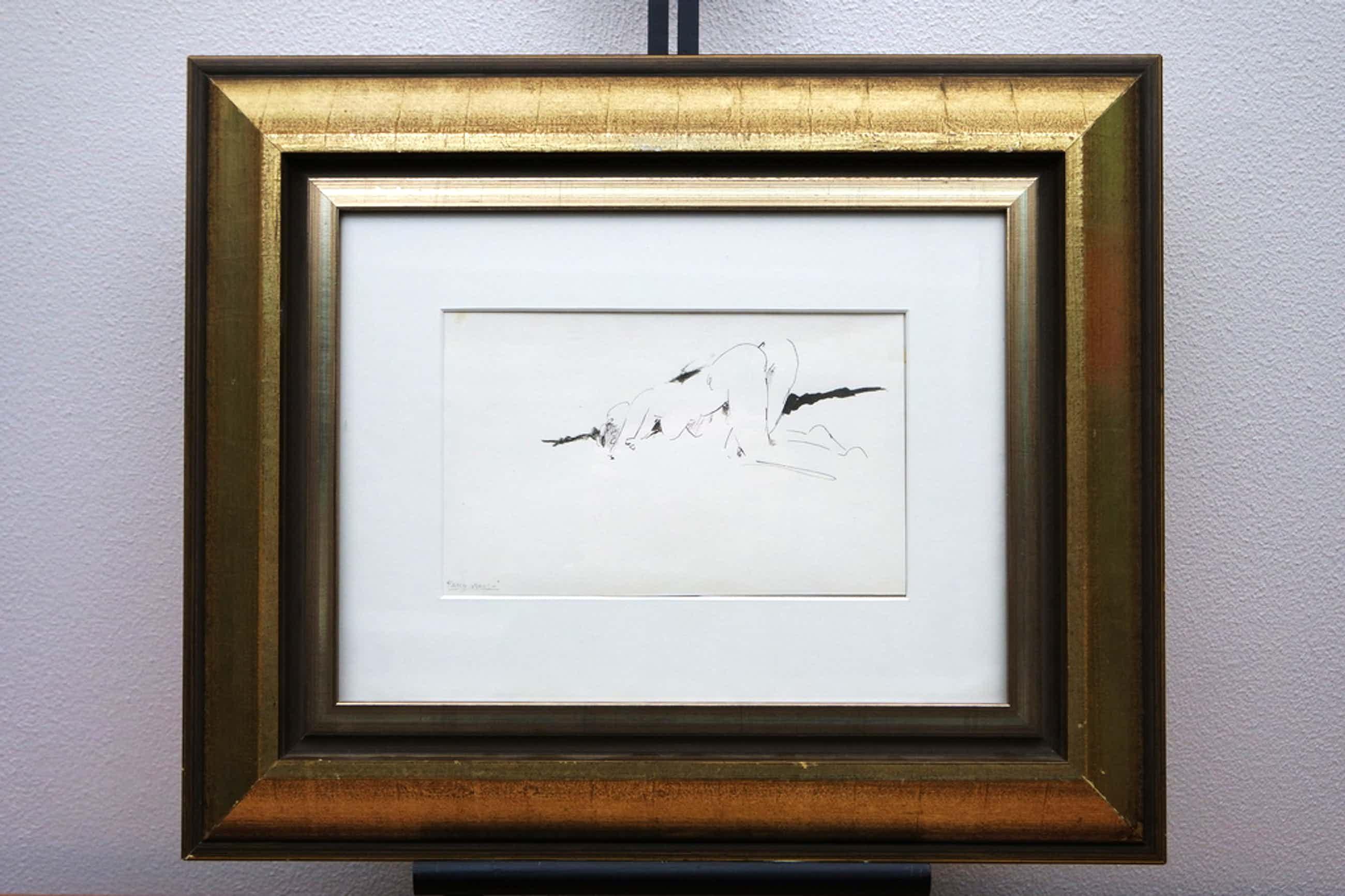 Harry Maas (1906-1982) - inkt tekening - figuurstudie kopen? Bied vanaf 99!