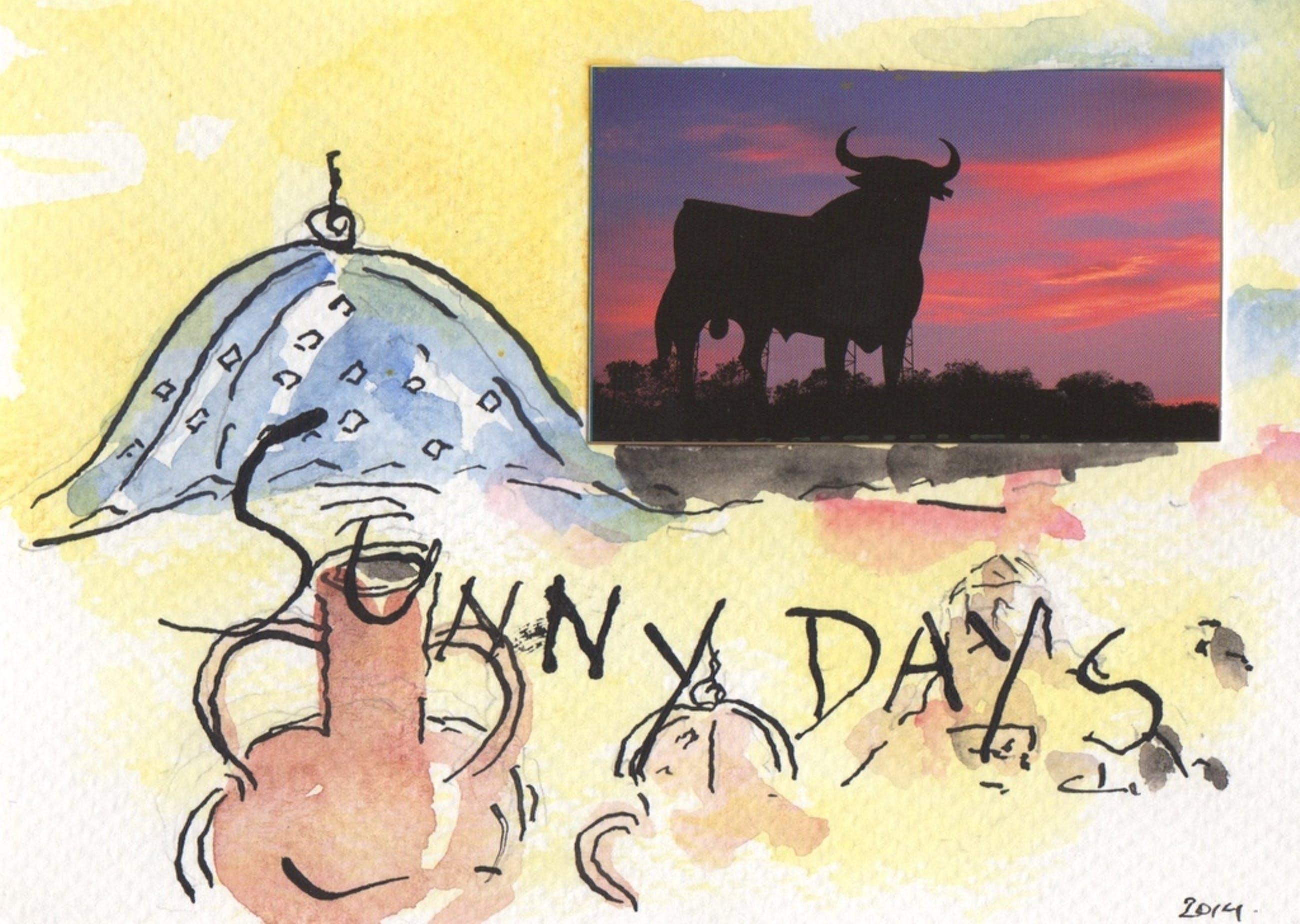 Woody van Amen - Woody van Amen, gemengde techniek op papier met collage, 'Sunny days', 2014 kopen? Bied vanaf 349!