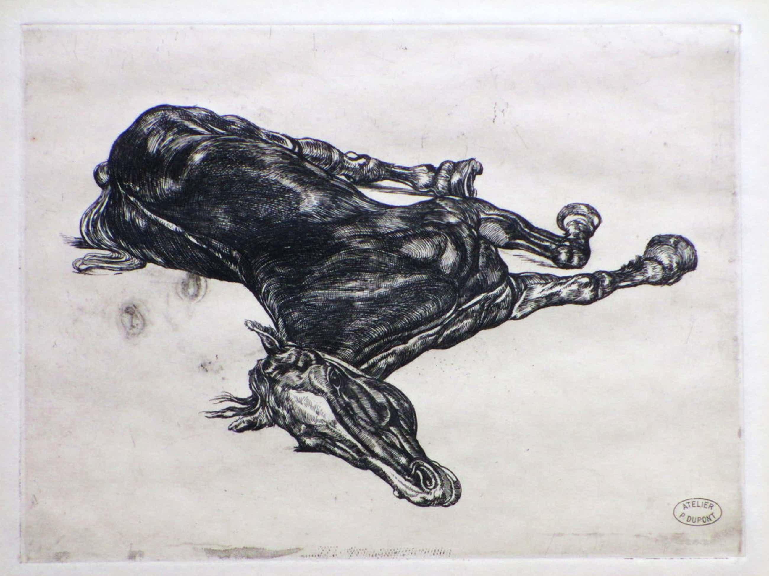 Pieter Dupont, Het doode paard, Ets op koper kopen? Bied vanaf 60!