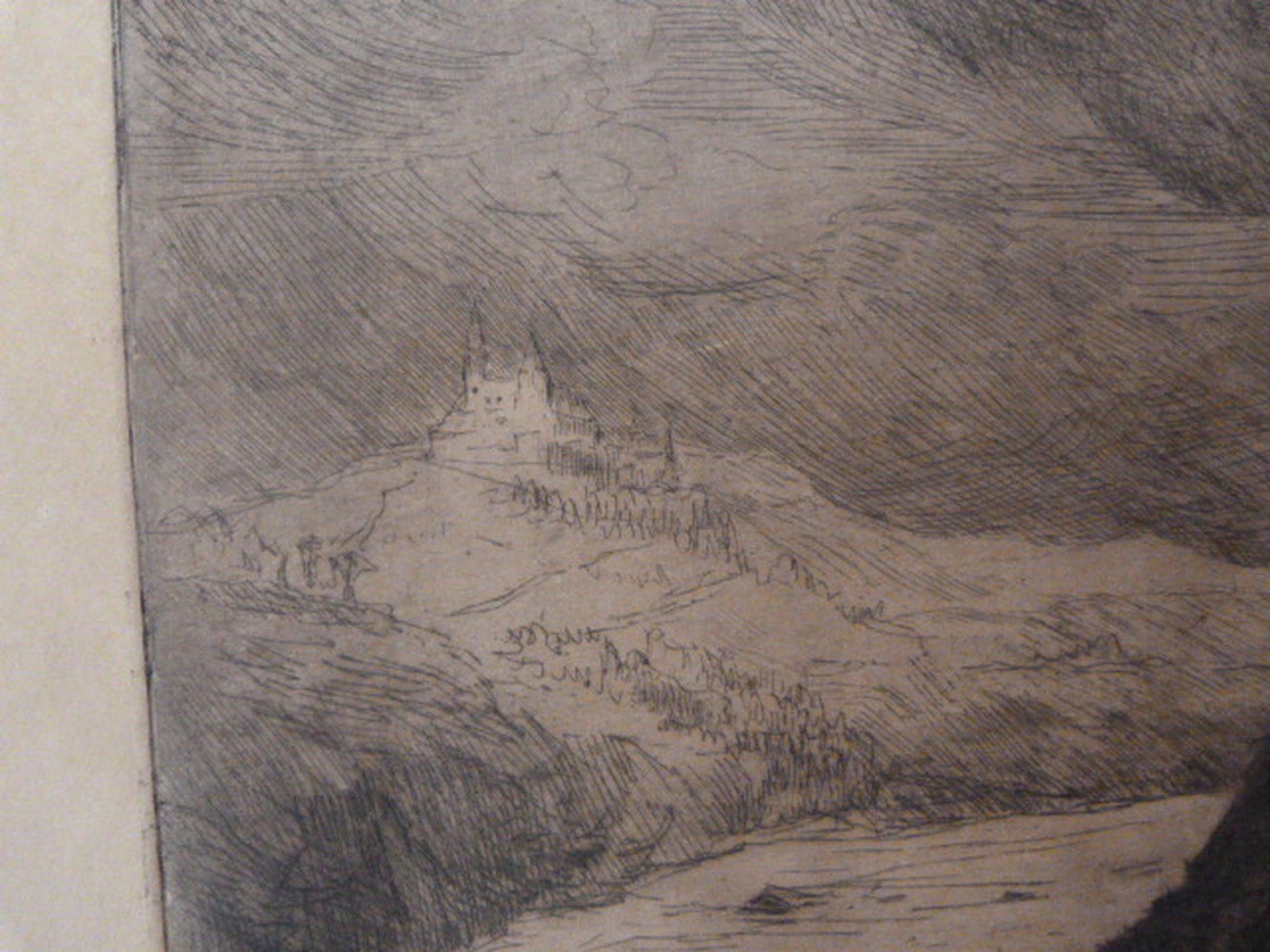 Martin van Waning ( 1889 - 1972 ) - ets - landschap. kopen? Bied vanaf 1!