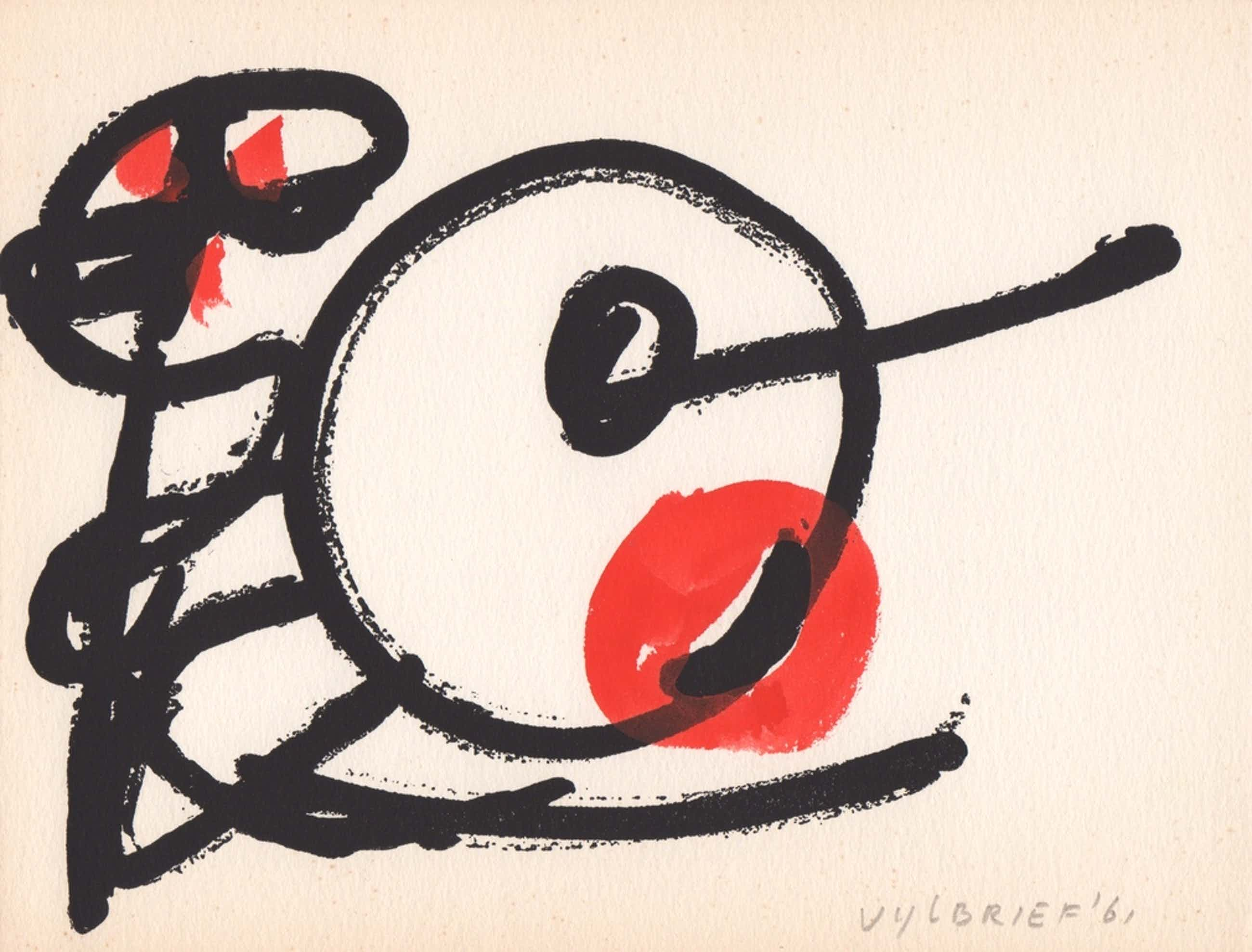 Ernst Vijlbrief, gemengde techniek, 1961, 'Spel en Nederlaag' kopen? Bied vanaf 55!