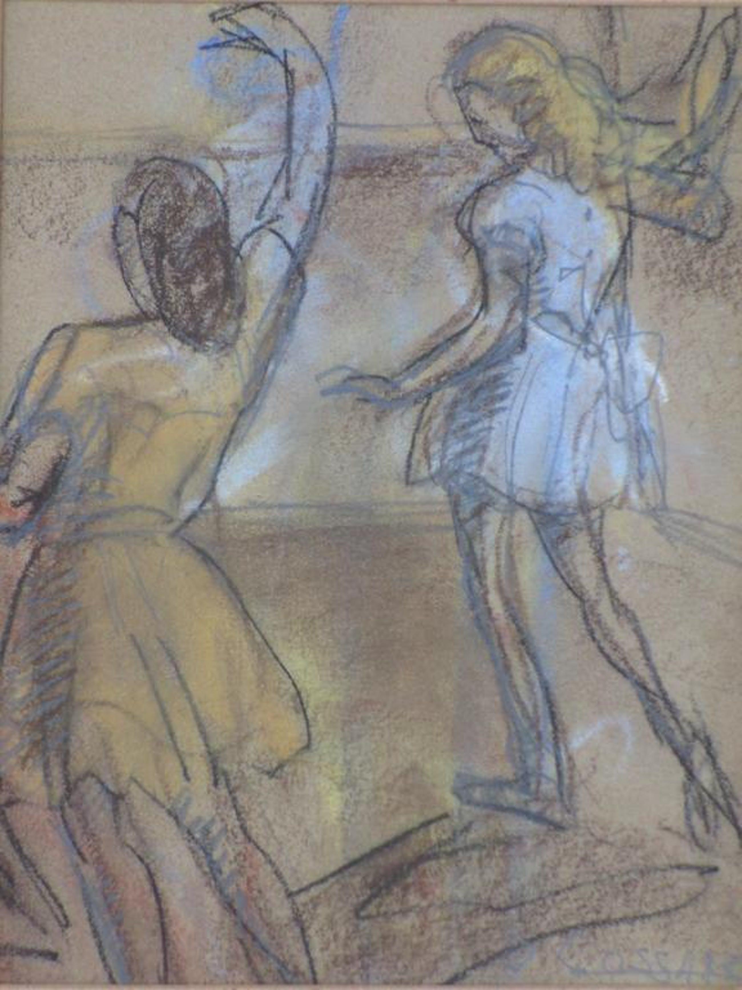 Jan Cossaar, Dansende vrouwen, Gemengde techniek kopen? Bied vanaf 35!