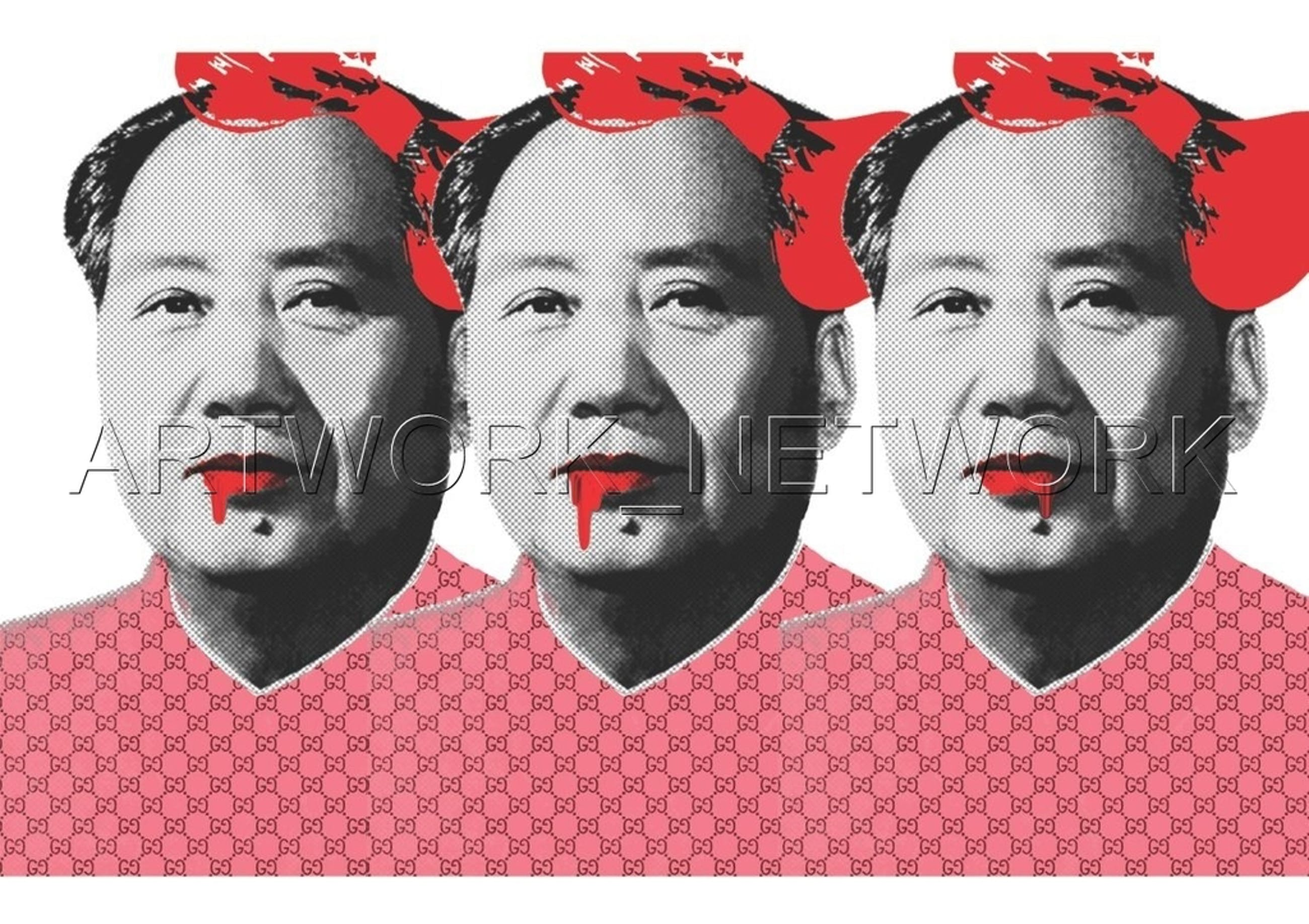 """Large Print Painting """"Mao Pink 3"""" Signed Numbered A/P or 1 to 100 with COA kopen? Bied vanaf 1!"""