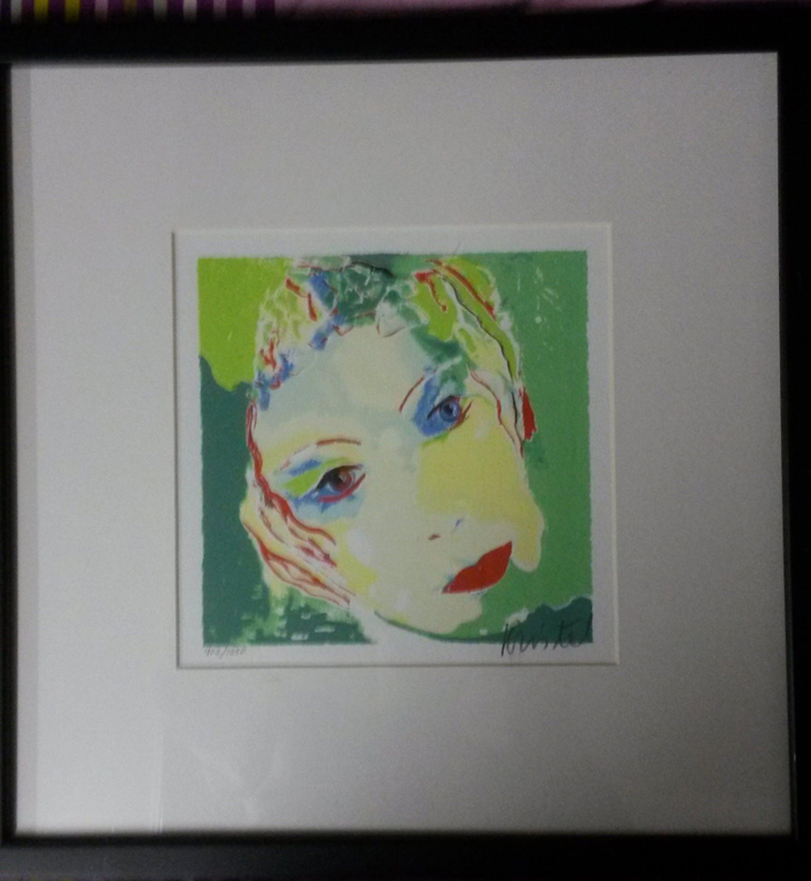 Sylvia Kristel - zeefdruk op papier - ingelijst - gesigneerd - oplage 1250 kopen? Bied vanaf 1!