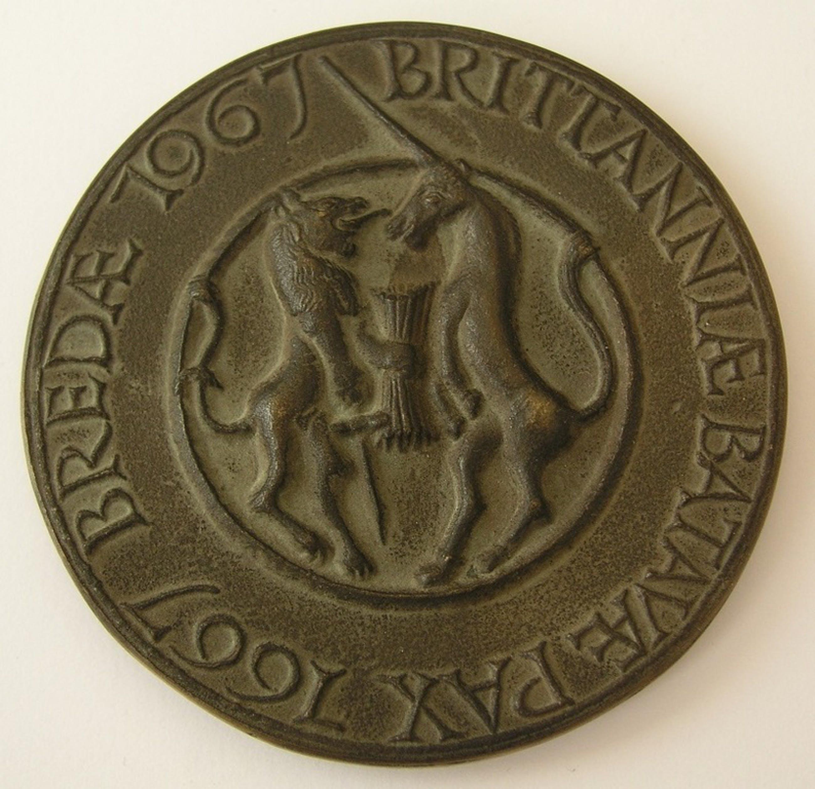 Niel Steenbergen: Penning 1967, 300 jaar vrede van Breda kopen? Bied vanaf 125!