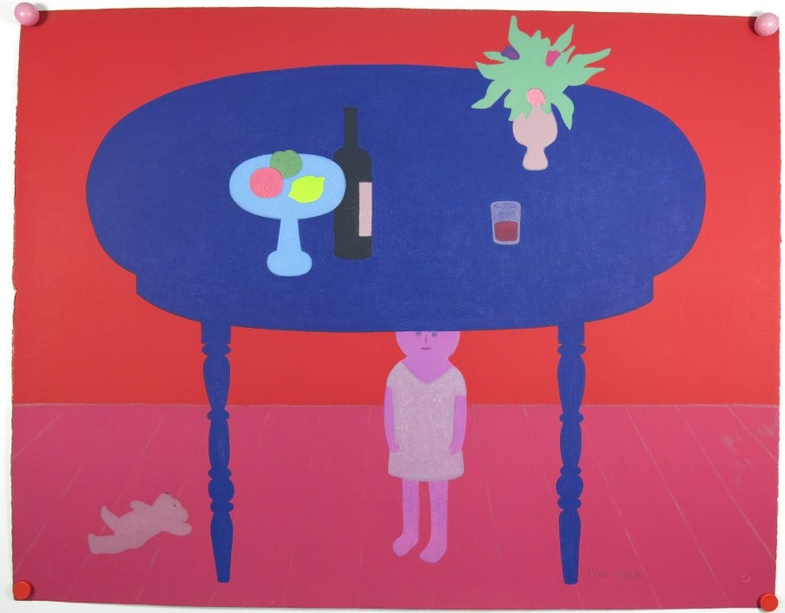 Jan Roede: Litho, Onder de blauwe tafel kopen? Bied vanaf 135!