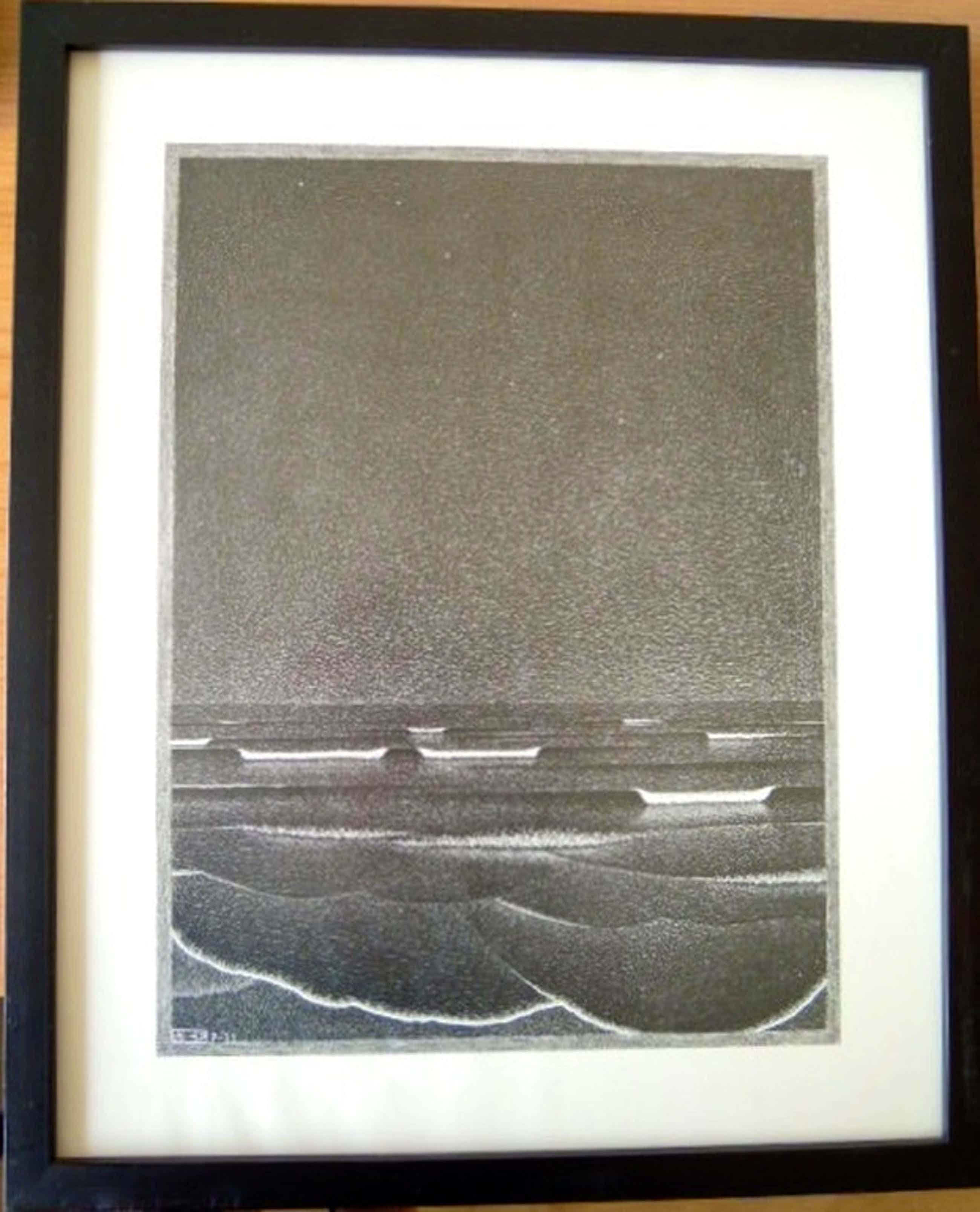 Gravure / druk M.C.ESCHER uit 1933 - 45 / 37 cm-zwarte lijst   kopen? Bied vanaf 130!