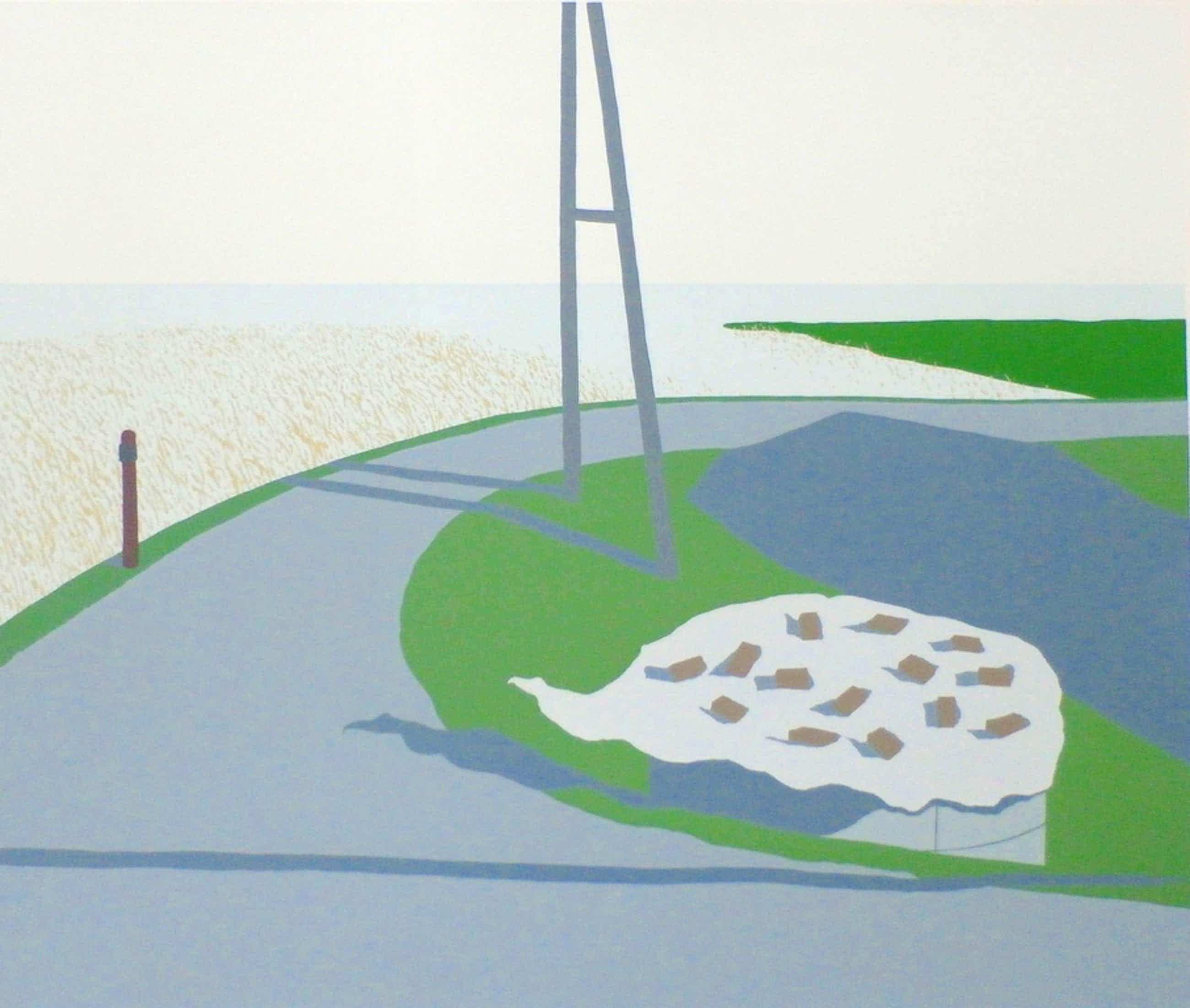 Doris Groeneveld - zeefdruk: kuilgrassilo (Westfriese zeedijk) - 1978  kopen? Bied vanaf 45!