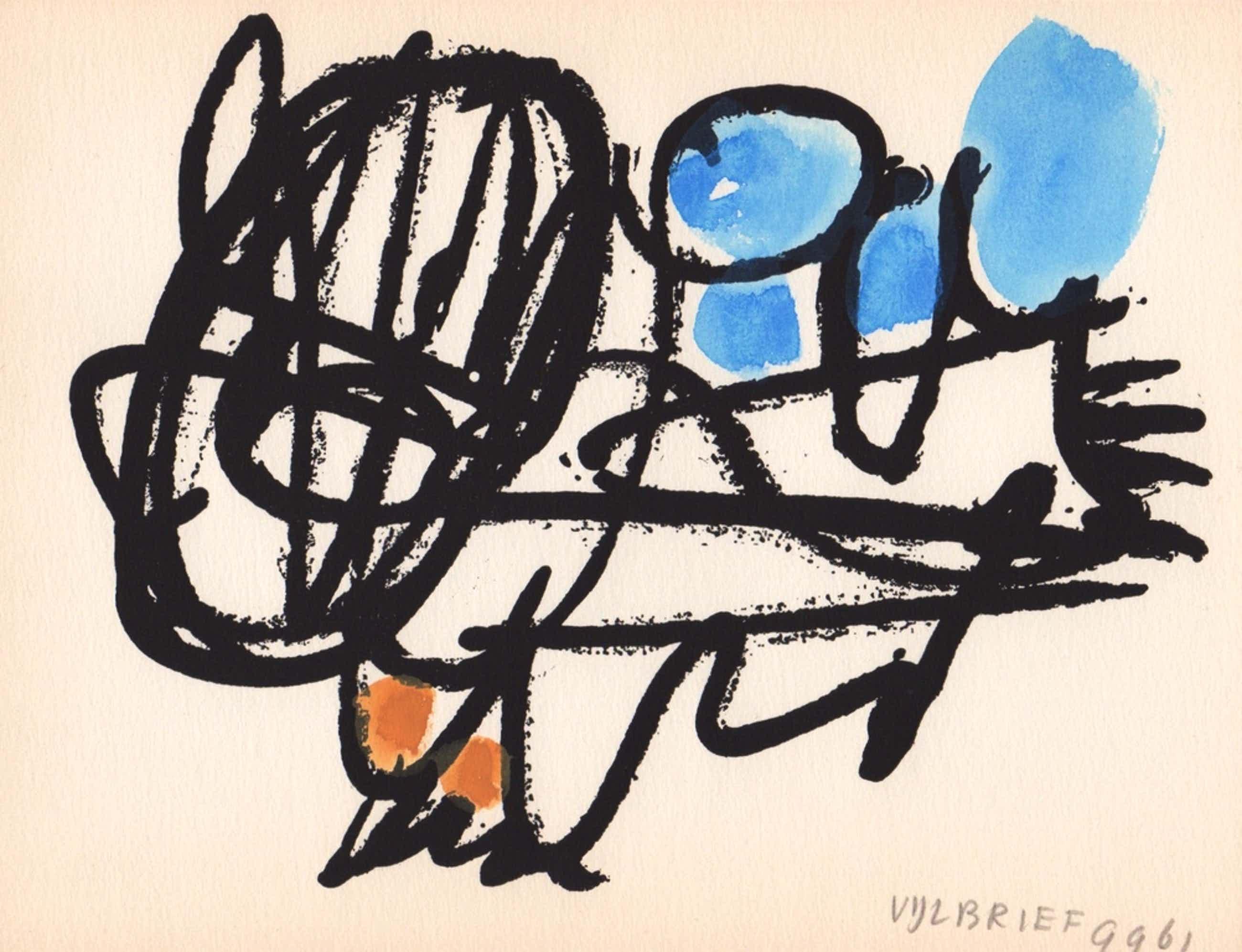 Ernst Vijlbrief, gemengde techniek, 1961, 'Spel en Nederlaag' kopen? Bied vanaf 59!