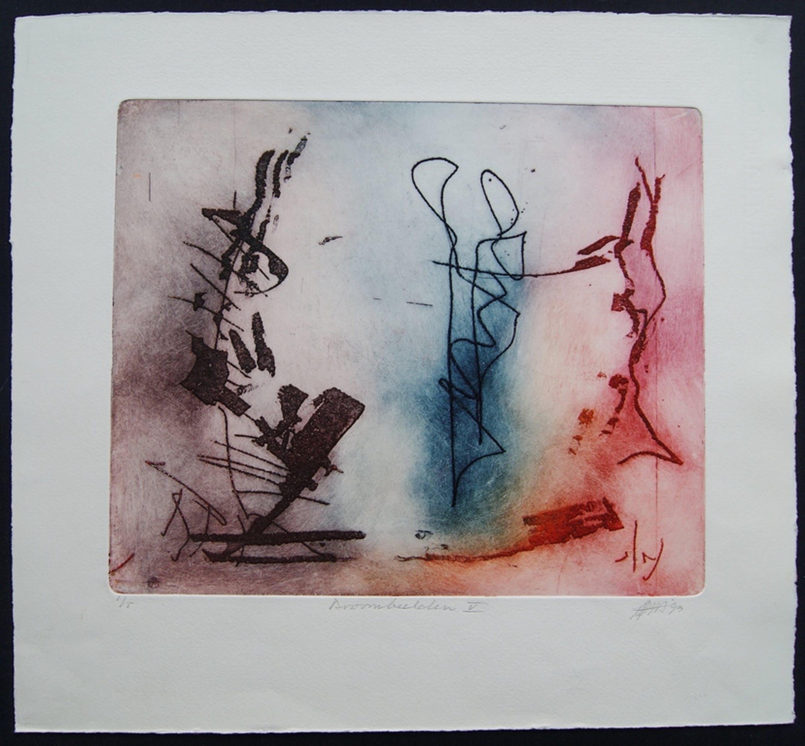 Ad Arma kleuren ets 'Droombeelden V' - 1993 - oplage 1/5. kopen? Bied vanaf 75!