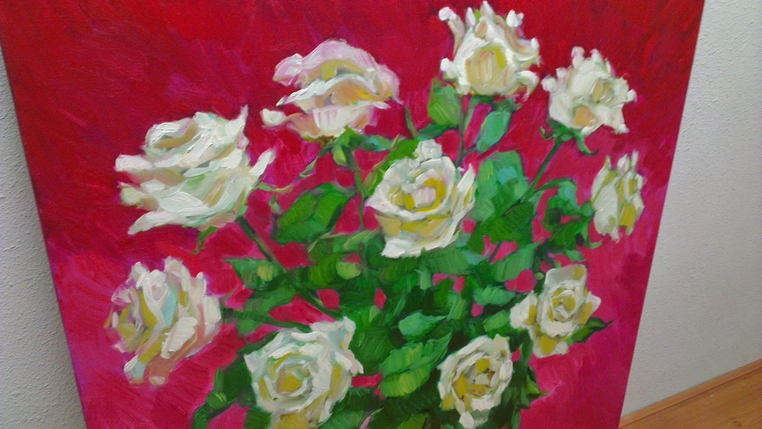 Witte rozen op rood kopen? Bied vanaf 1000!