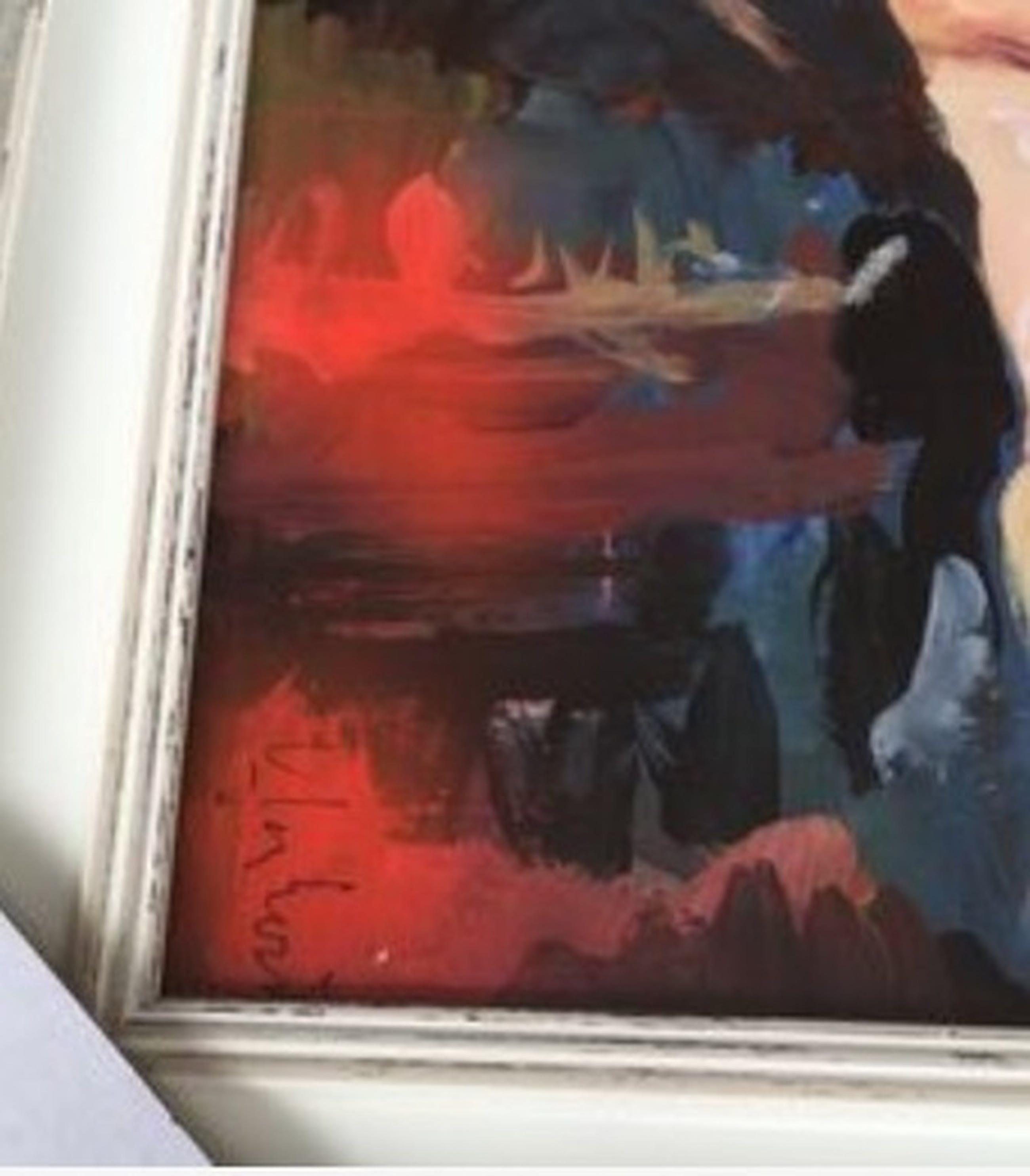 """Peter Klashorst - """"Angel"""" (Origineel ingelijst schilderij) kopen? Bied vanaf 1!"""