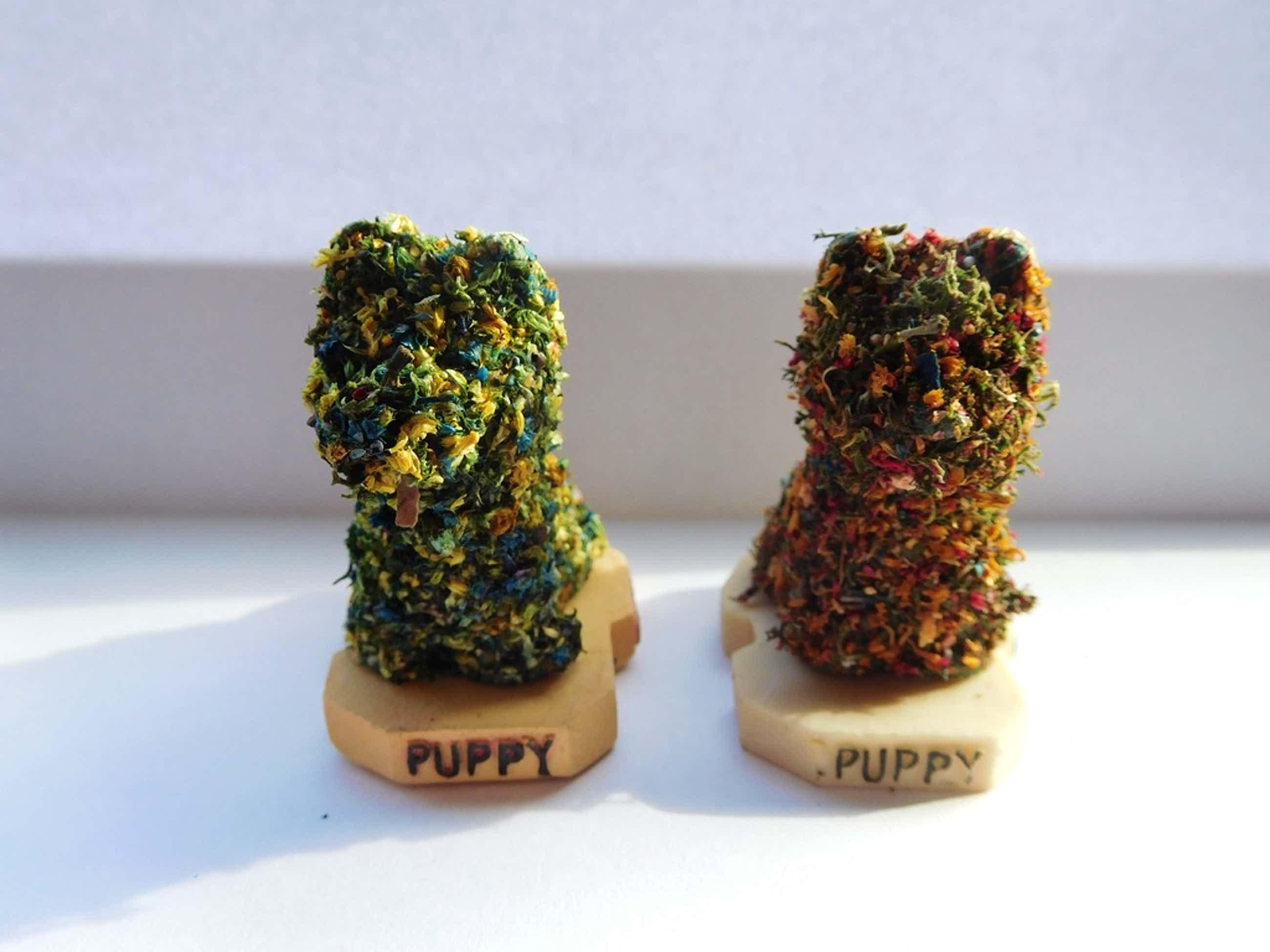 """Jeff Koons, 2 Multiples """"Puppy 1992"""", Bilbao Guggenheim kopen? Bied vanaf 50!"""