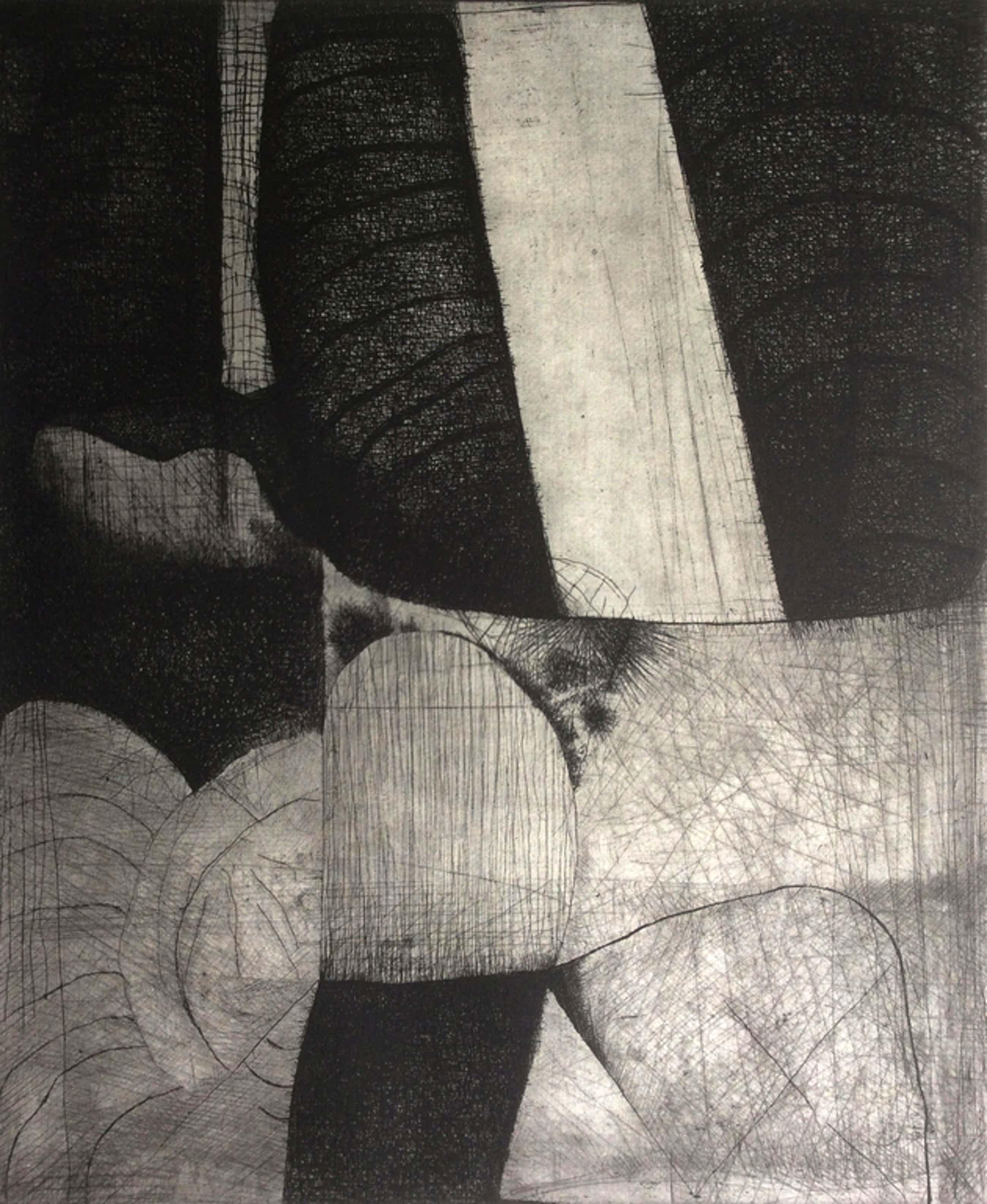 Guillaume Le Roy - Guillaume Le Roy: grote ets, Compositie 3, 1967. kopen? Bied vanaf 45!