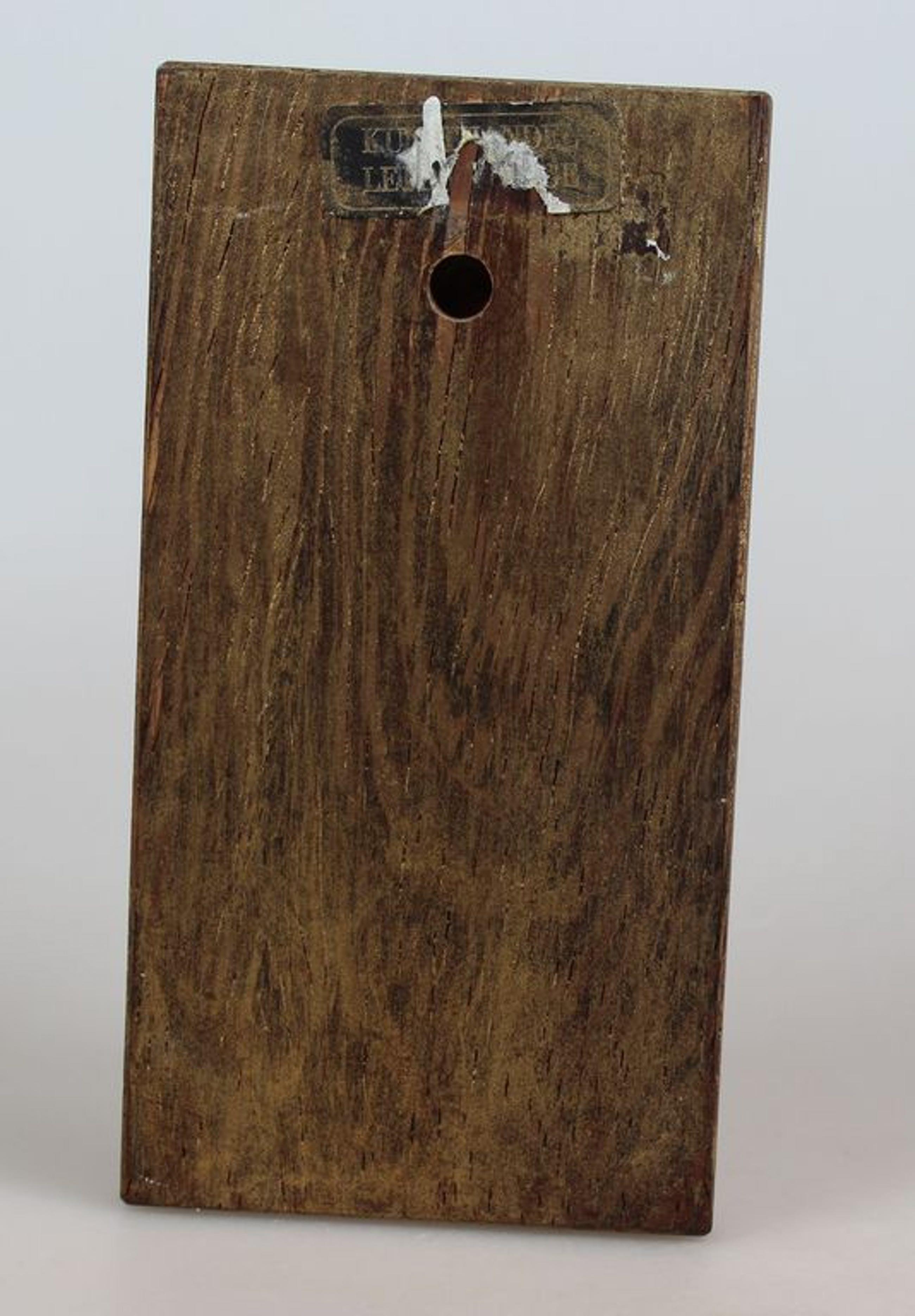 Nella Damsma koperemaillen plaquette op houten plankje kopen? Bied vanaf 12!