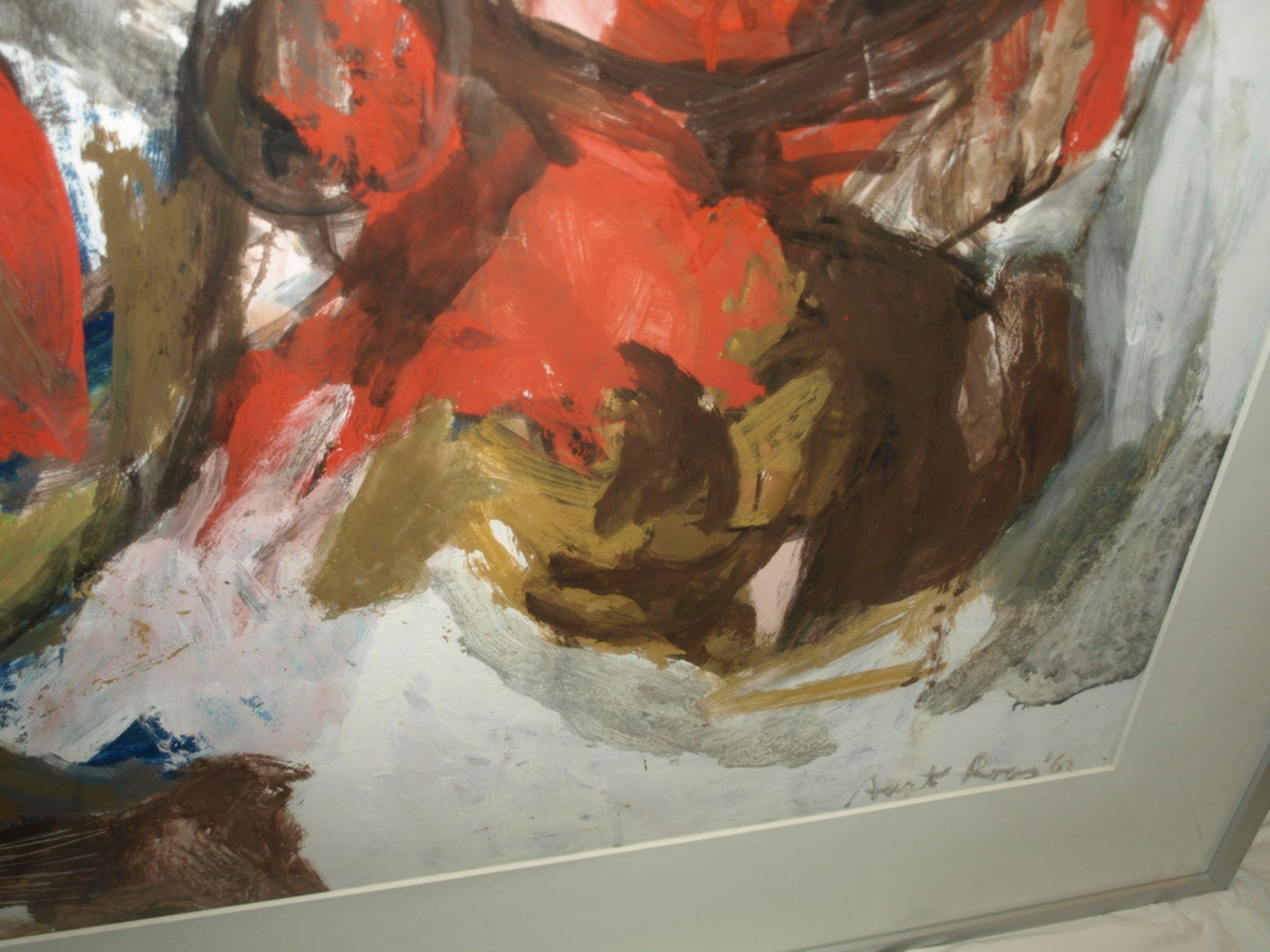 Aart Roos : Olieverf - ZÉÉR groot schilderij – Gesigneerd & ingelijst - 1962 kopen? Bied vanaf 1!