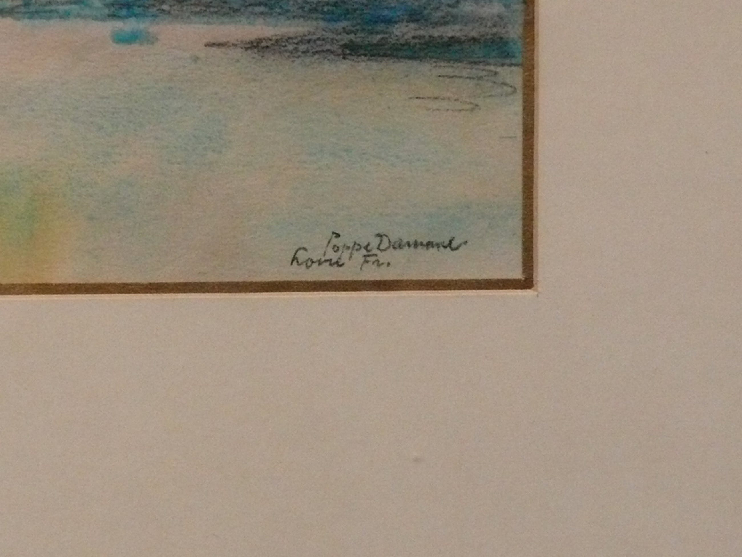 Poppe Damave (1921-1988), Tekening, Loire Frankrijk kopen? Bied vanaf 20!