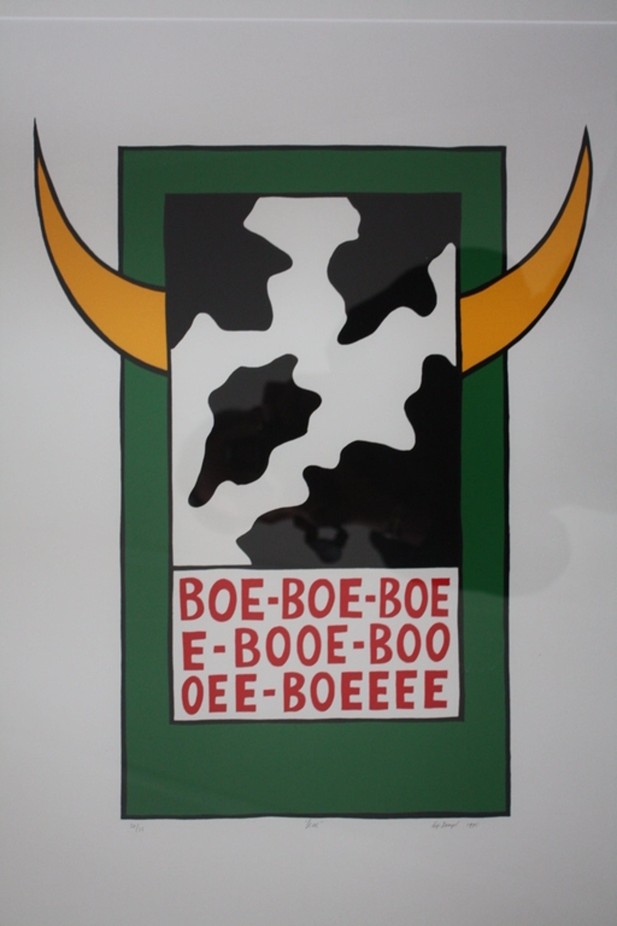 Gijs Dragt - Koe Boe Boe Boe - Zeefdruk uit 1995 kopen? Bied vanaf 200!