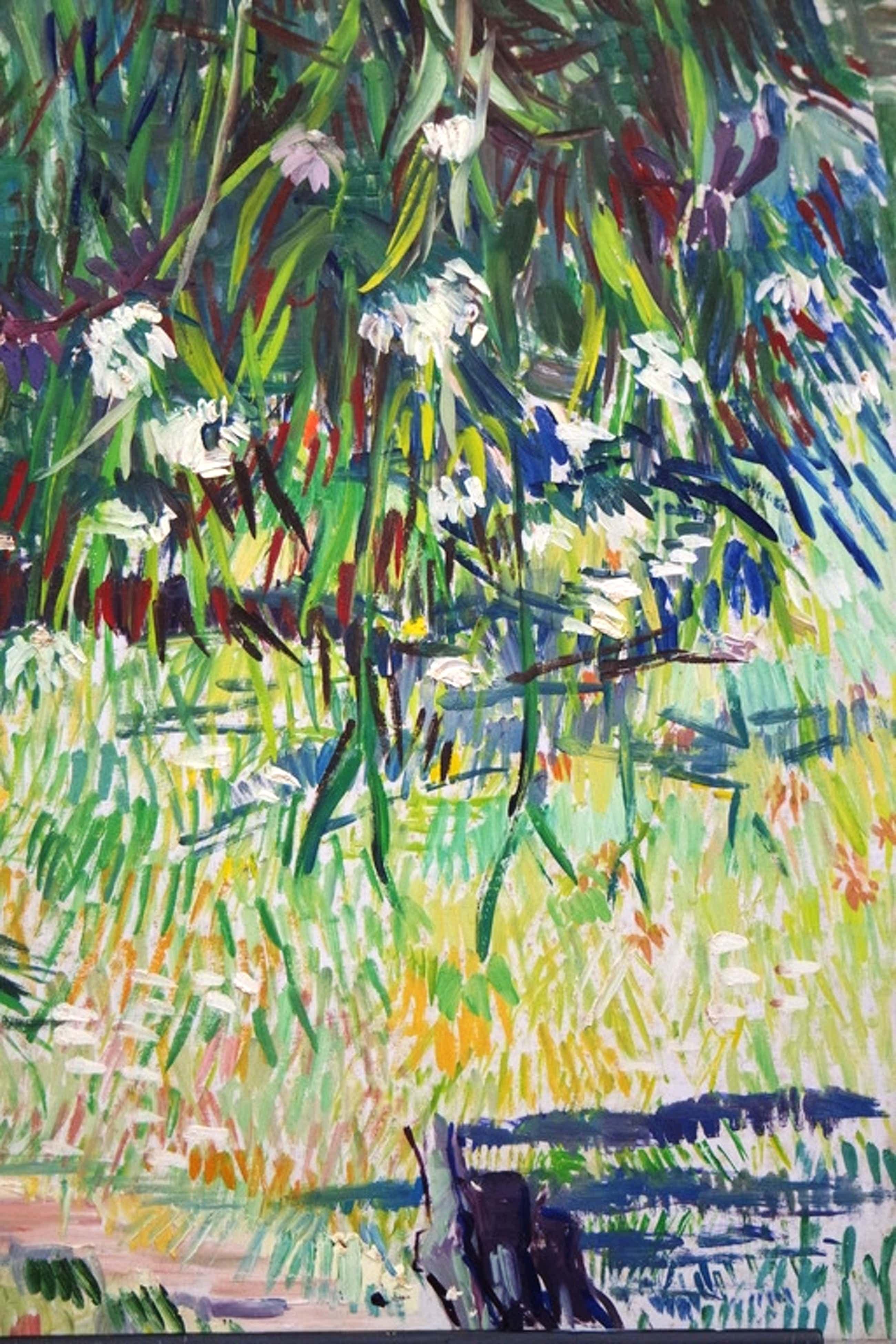 Albert van DALSUM (1889 - 1971) - olieverf op board - bankje in een tuin kopen? Bied vanaf 57!