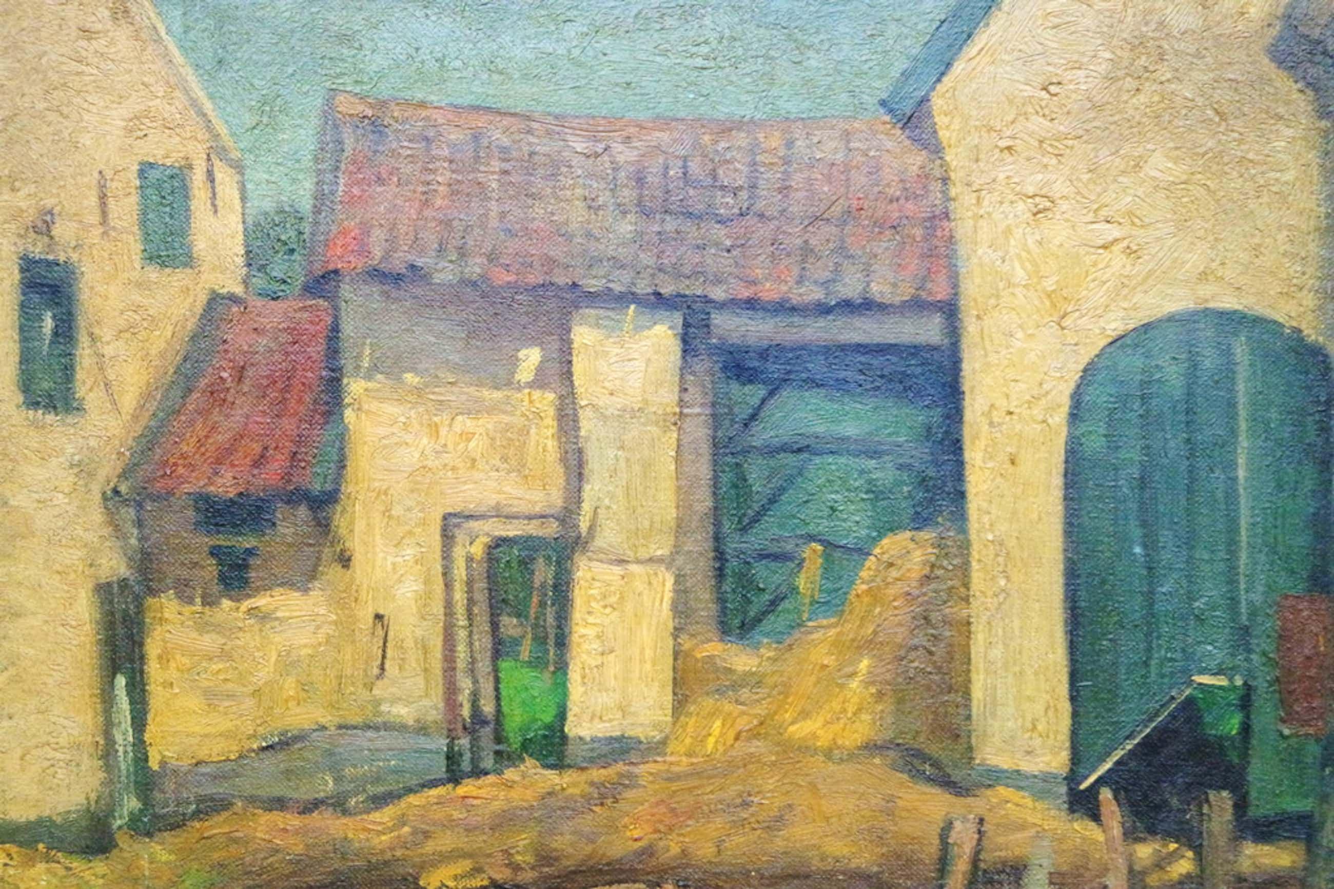 Albert van DALSUM (1889 - 1971) - olieverf op doek - boerderijgezicht kopen? Bied vanaf 70!