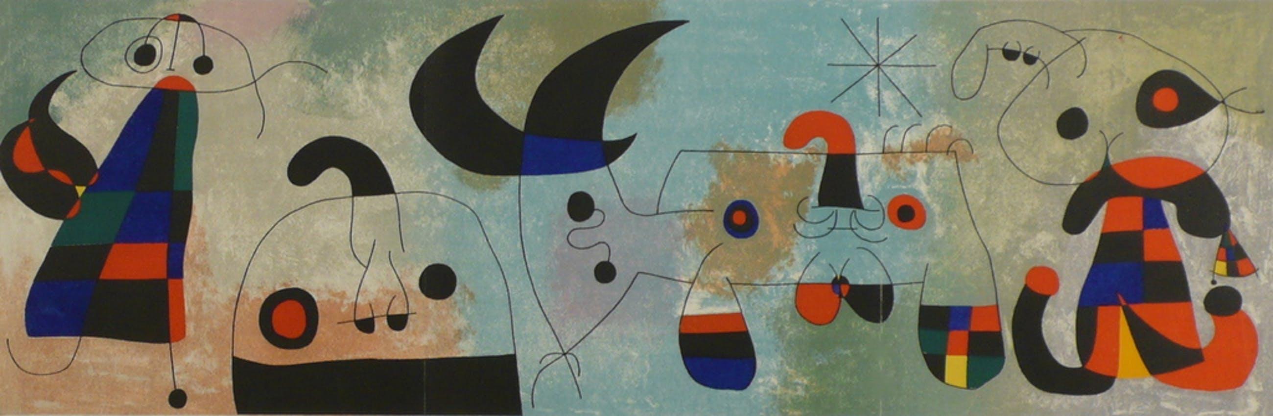 Joan Miro, Originele kleurenlitho kopen? Bied vanaf 540!