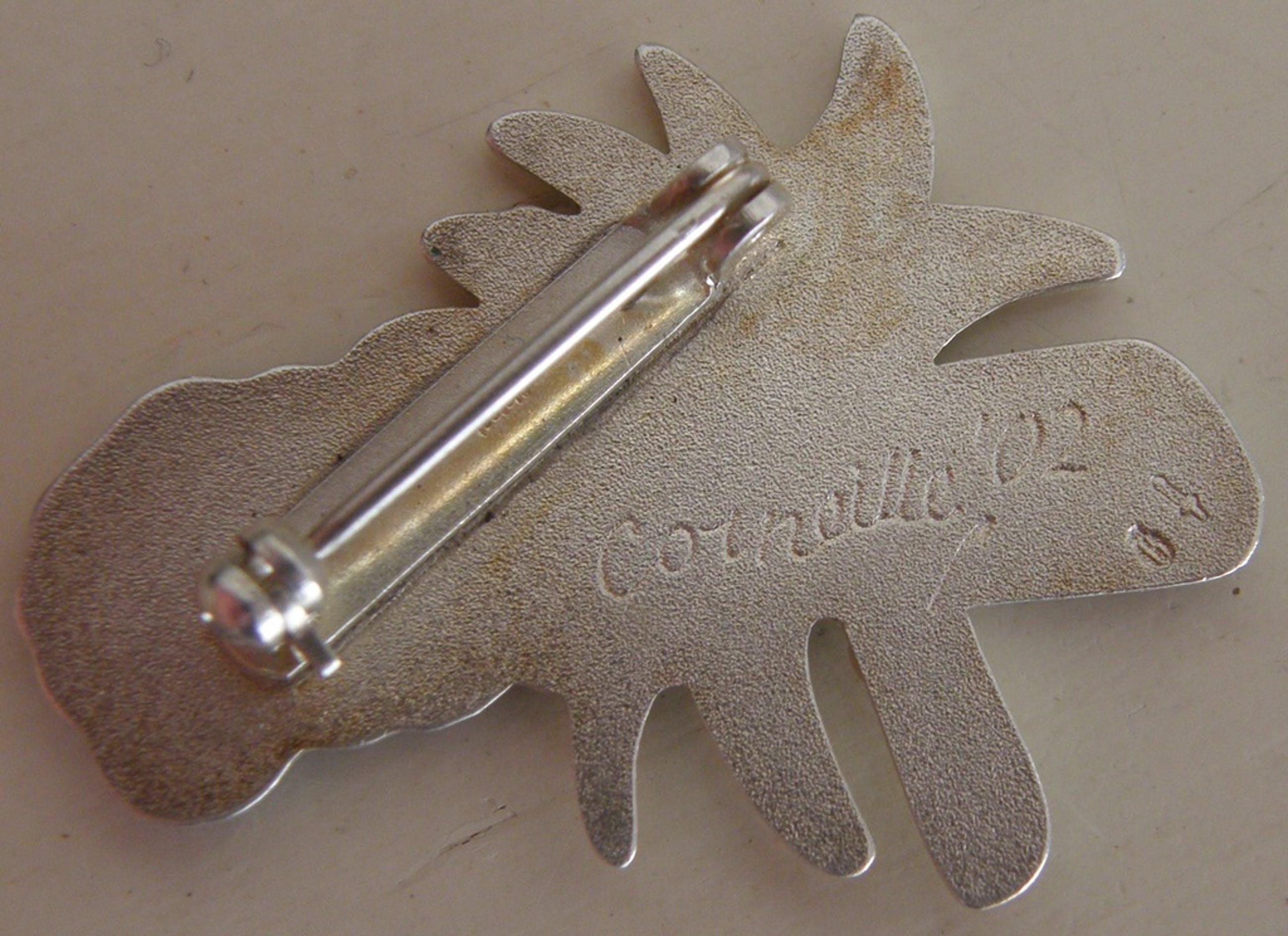 Corneille: zilveren broche, uitgave 2002 kopen? Bied vanaf 30!