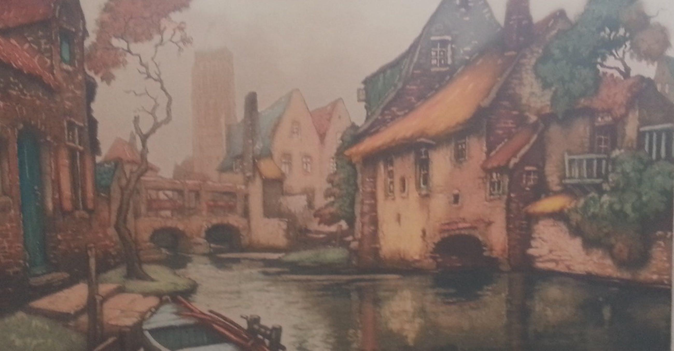 Alfred Neste (1874-1969)-kleurenets, hand gesigneerd, getiteld en genummerd 60 kopen? Bied vanaf 59!