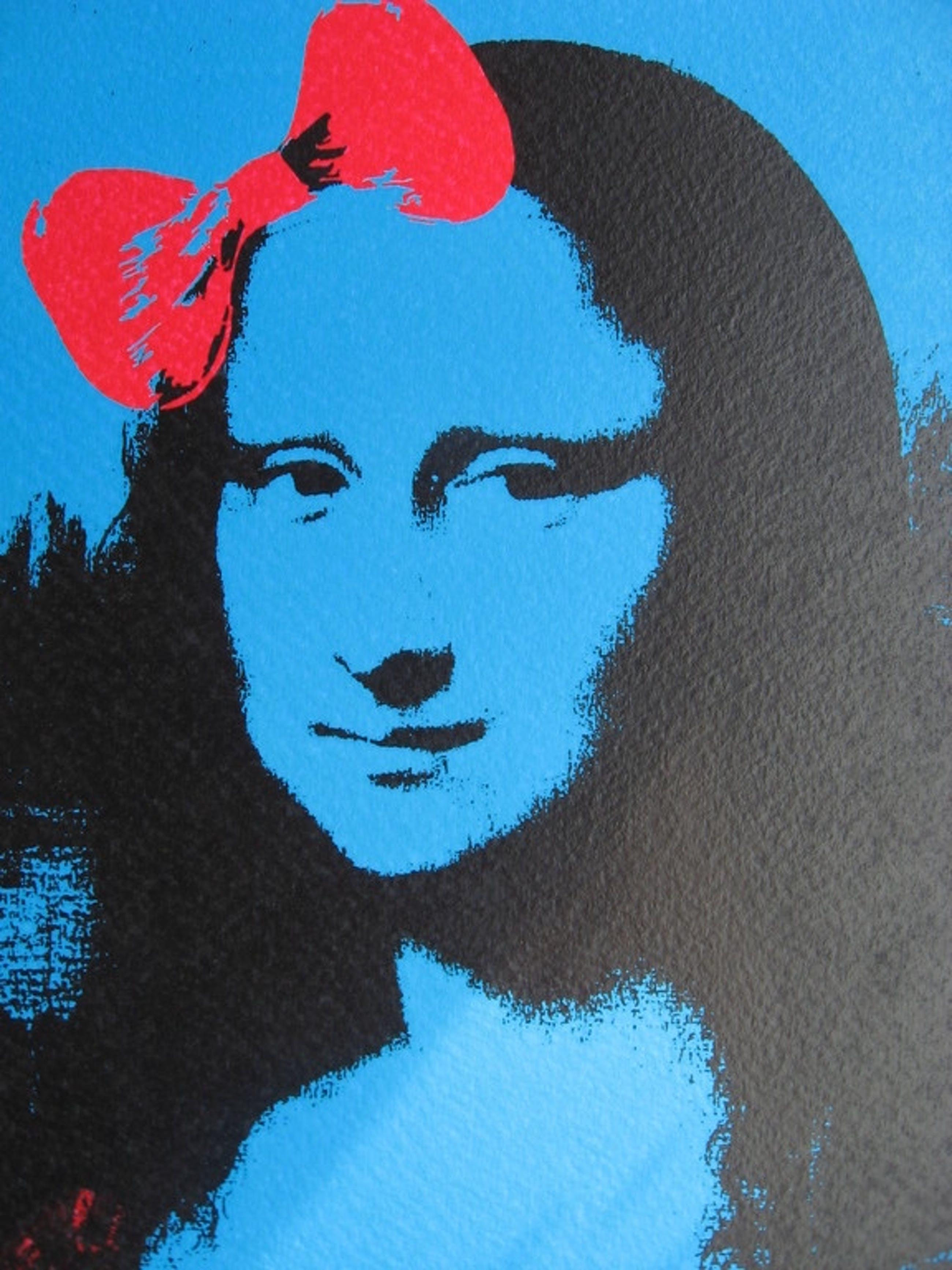 DEATH NYC: 'Mona Lisa spray blue' - opl. 100 ex. - met COA kopen? Bied vanaf 1!